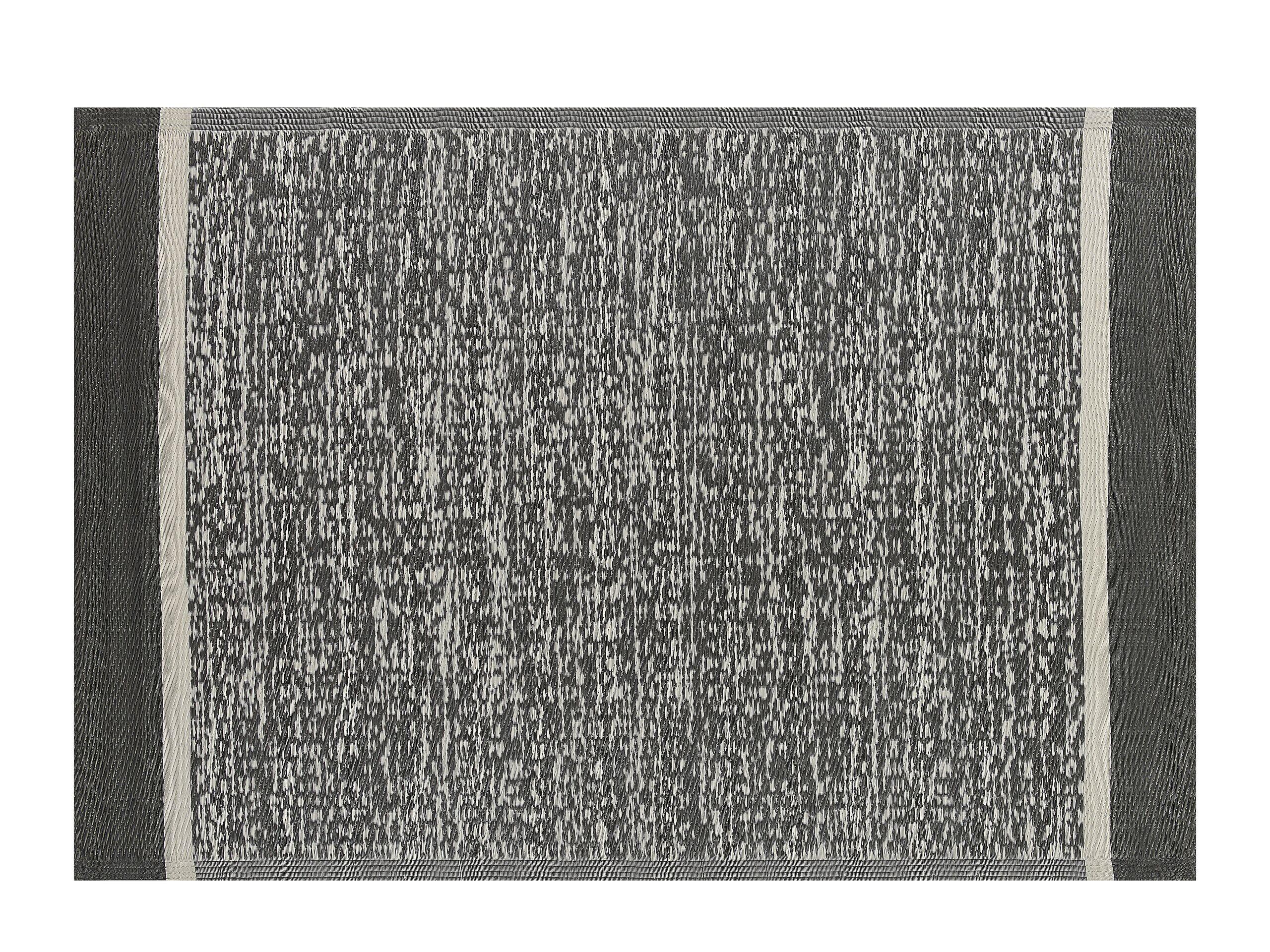 Tapis extérieur noir 120 x 180 cm