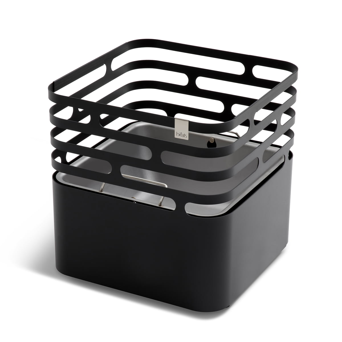 Brasero grill tabouret table d'appoint noir