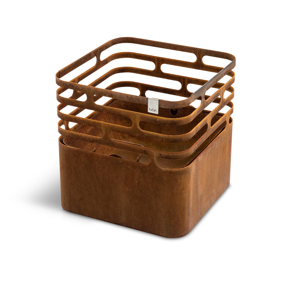 Brasero grill tabouret table d'appoint rouille