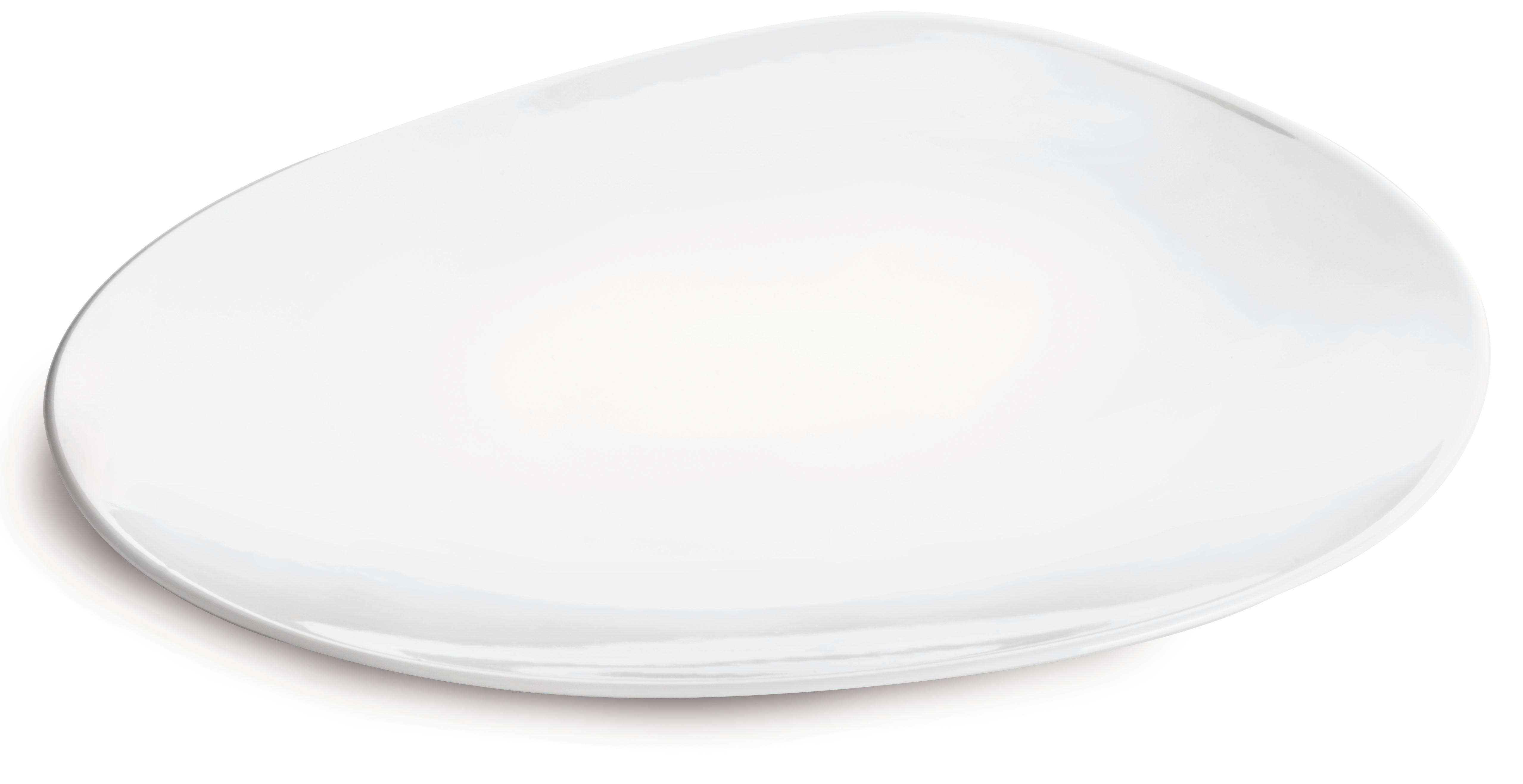 Assiette hôtesse en porcelaine blanche blanc 31 cm - Lot de 6