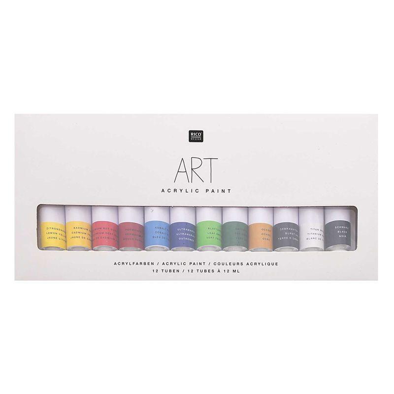 Set peinture acrylique basique 12x12ml