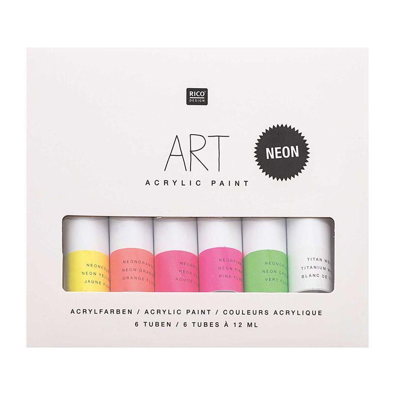 Set peinture acrylique fluo 6x12ml