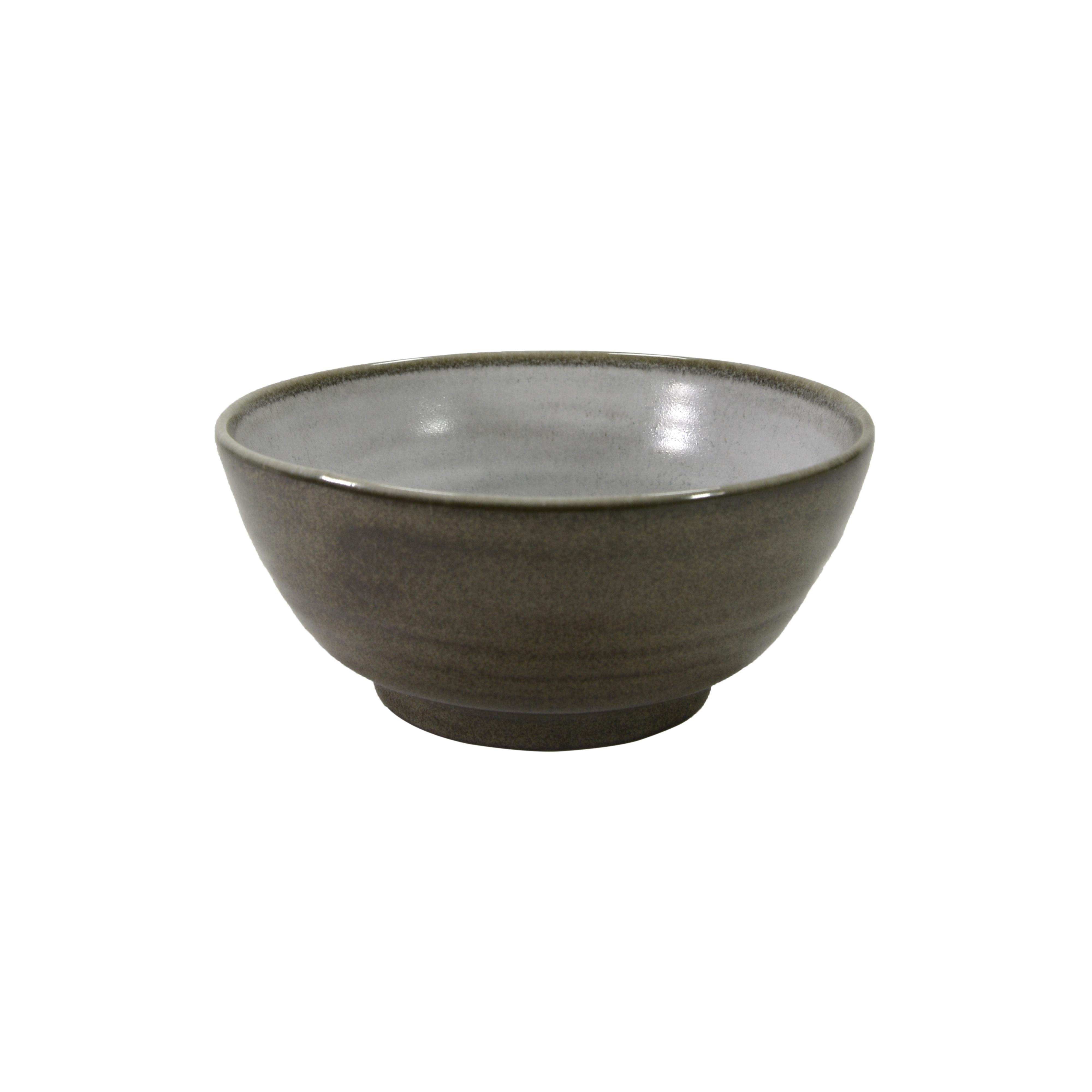 Bol en porcelaine gris 13.5 cm - Lot de 5