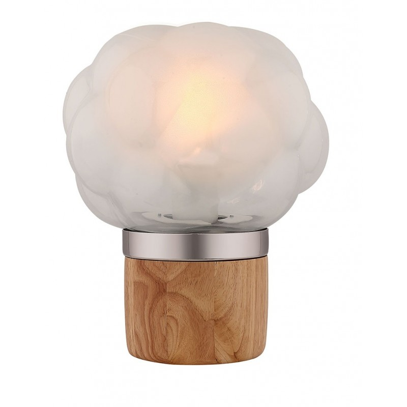 Lampe à poser en verre opaque
