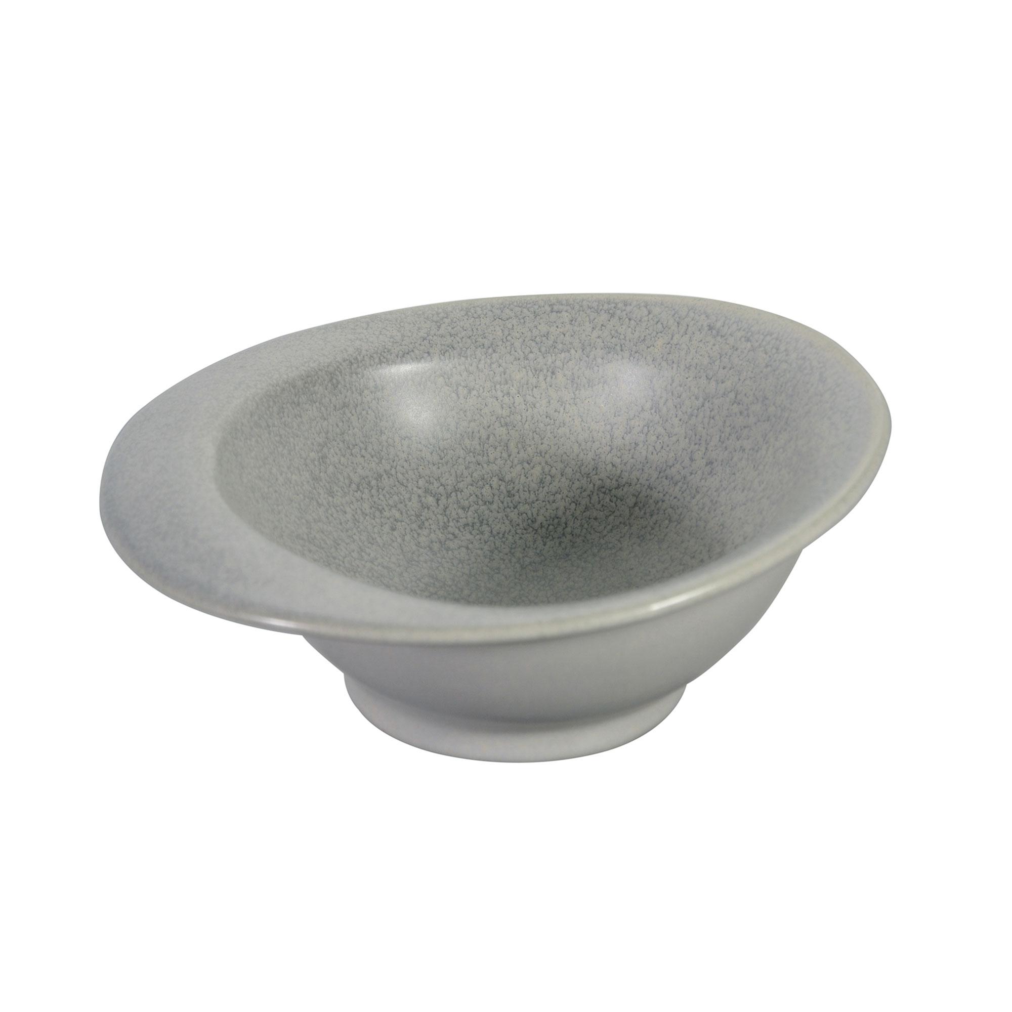 Coupelle en porcelaine gris 16,5 cm - Lot de 4