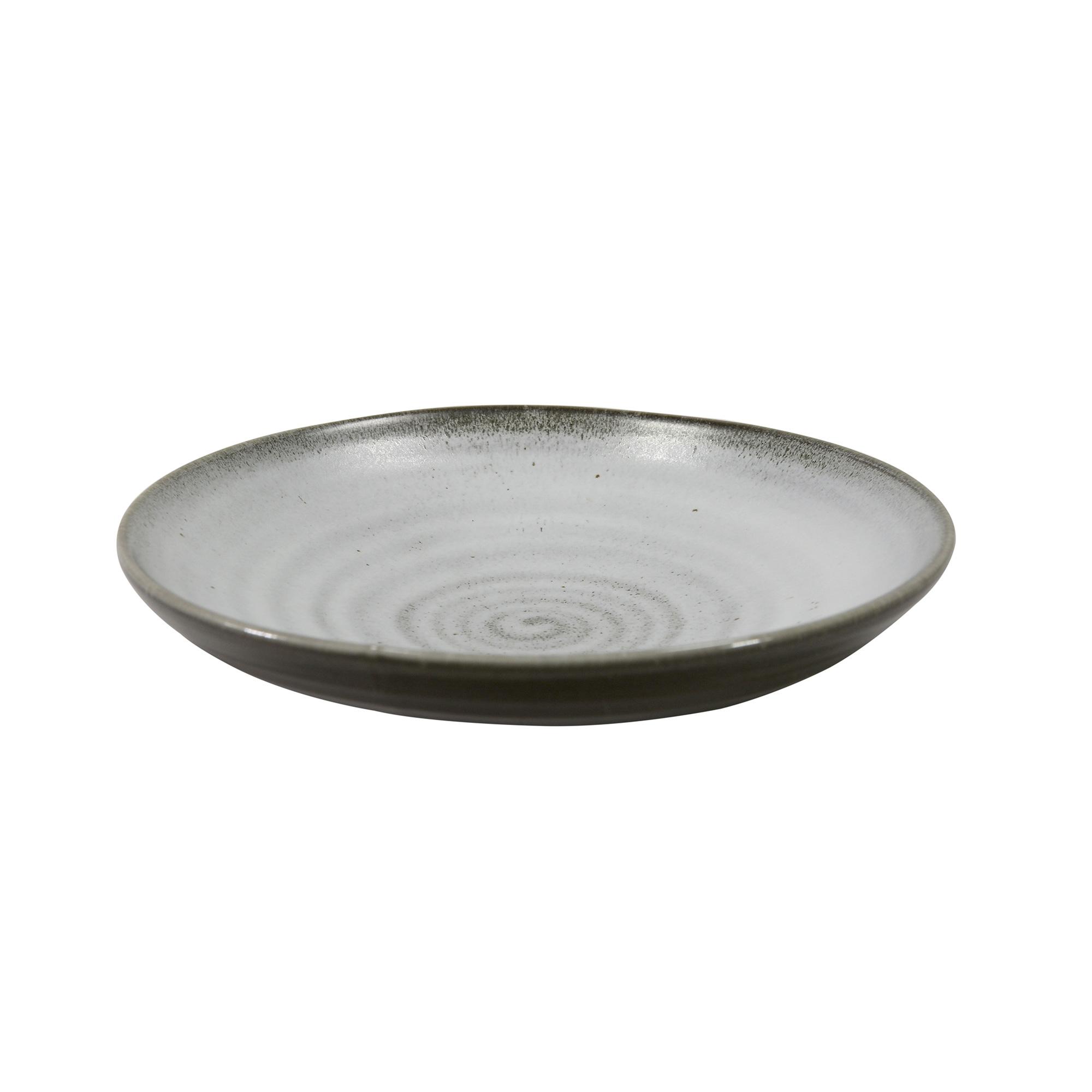 Assiette creuse en porcelaine gris 20 cm - Lot de 3
