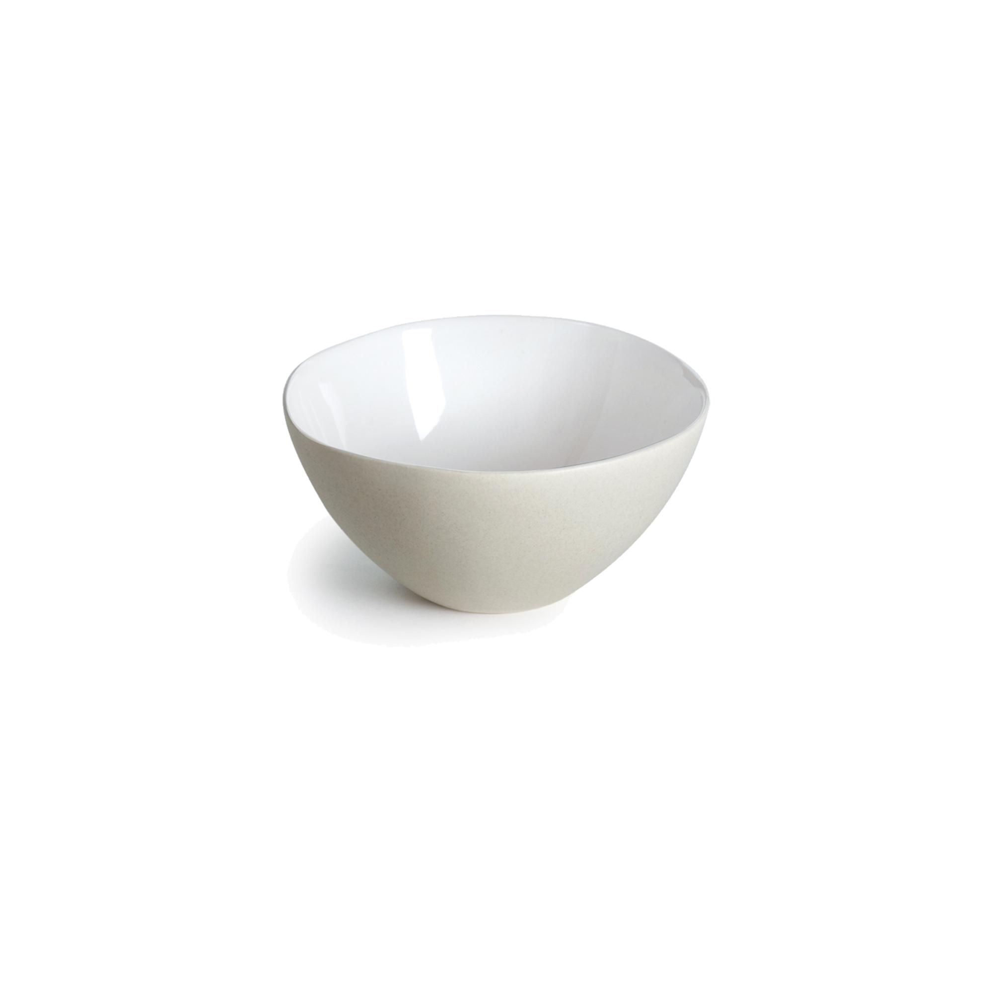 Coupelle en grès de table blanc 13 cm - Lot de 6