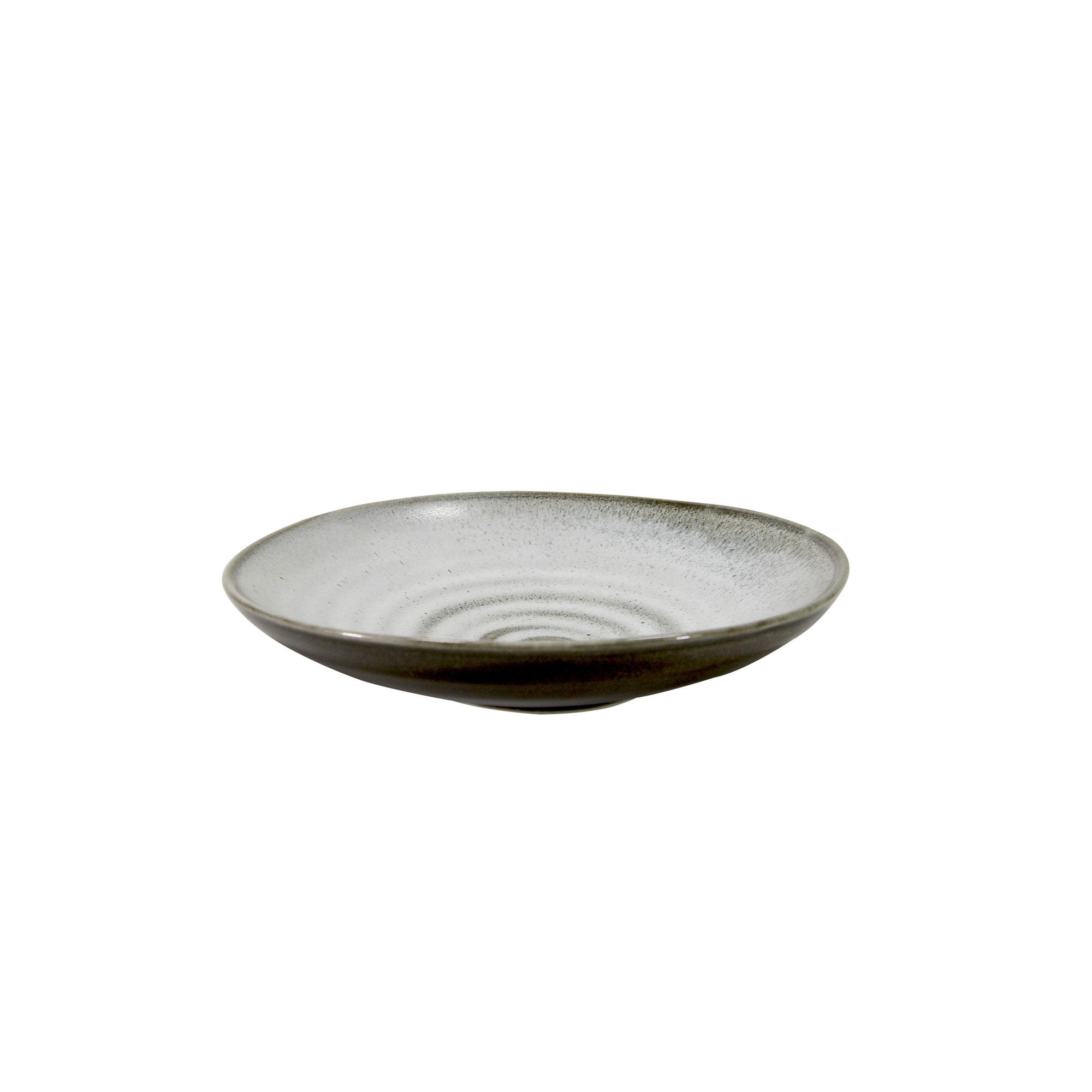 Coupelle en porcelaine gris 16.5 cm - Lot de 5