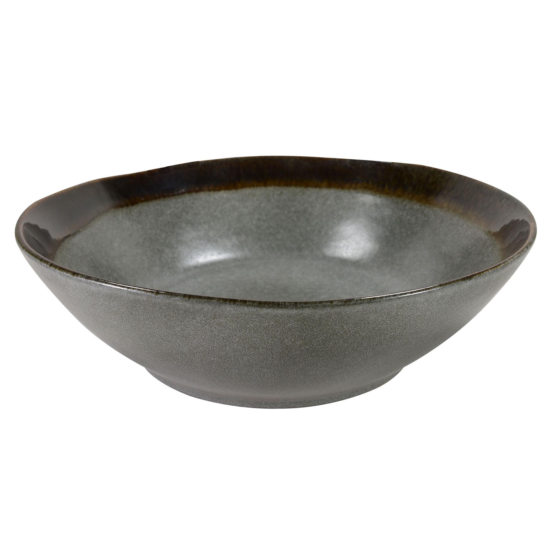 Saladier en grès artisanal gris 30 cm