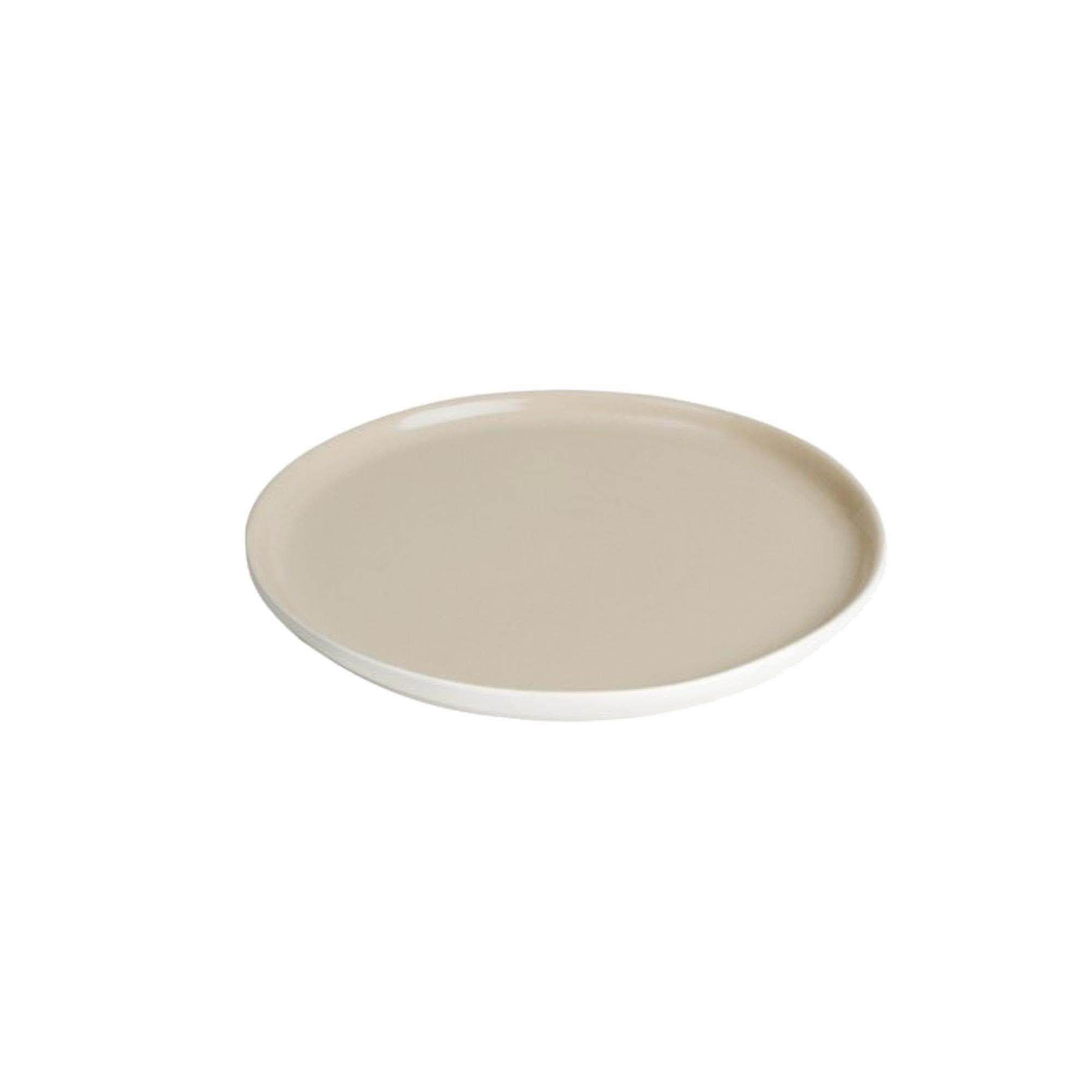 Assiette dessert en grès de table beige 22 cm - Lot de 6