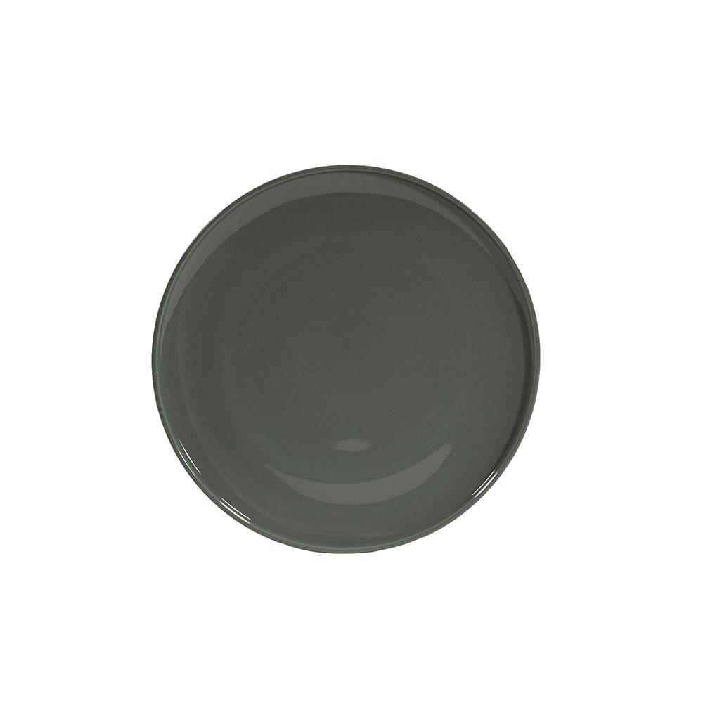 Assiette dessert en porcelaine gris 19.5 cm - Lot de 6