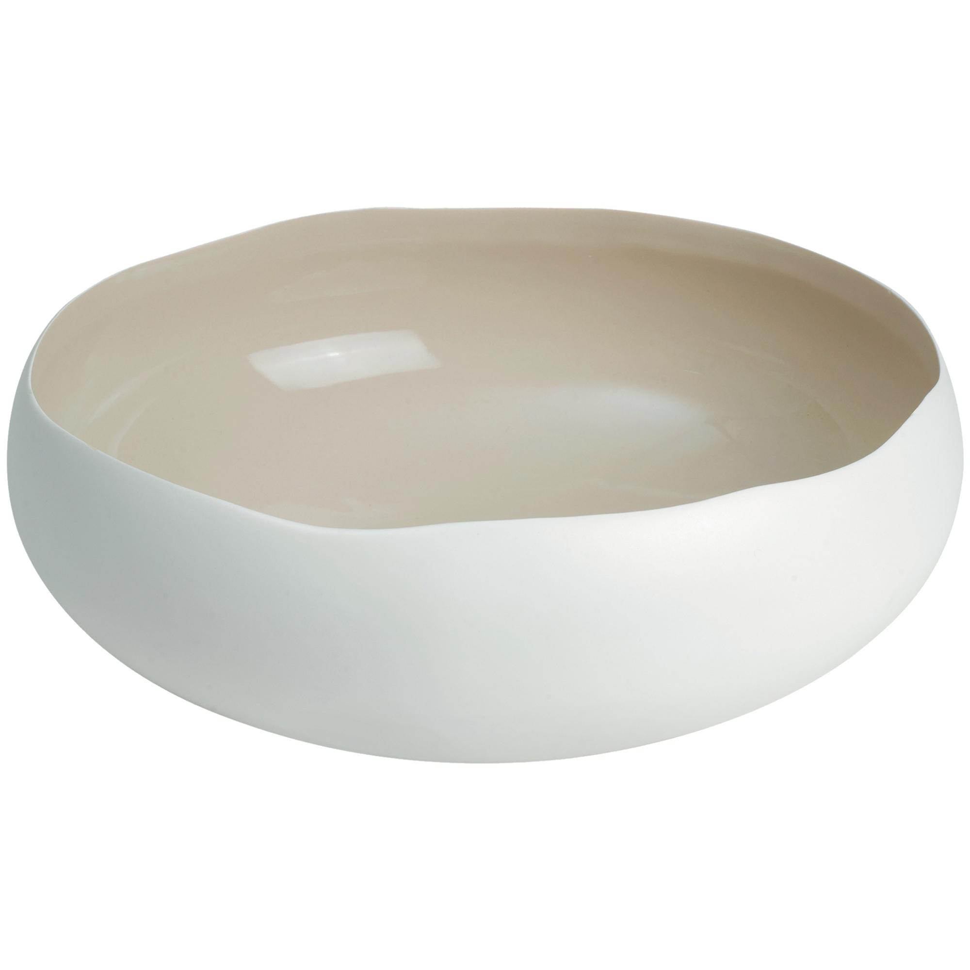 Coupe en grès de table beige 34 cm