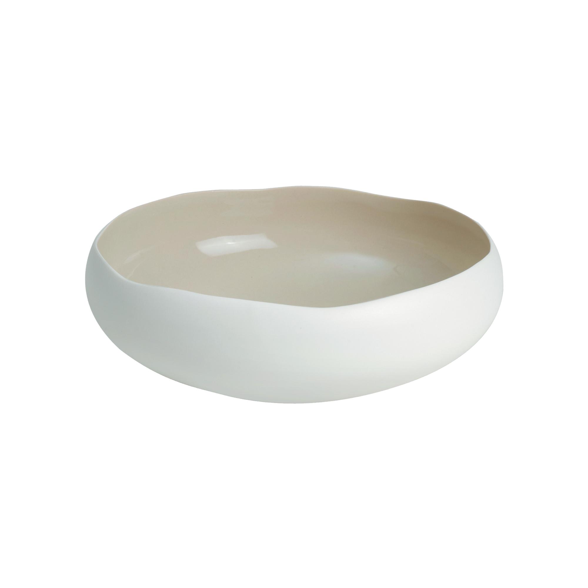 Coupe en grès de table beige 22 cm