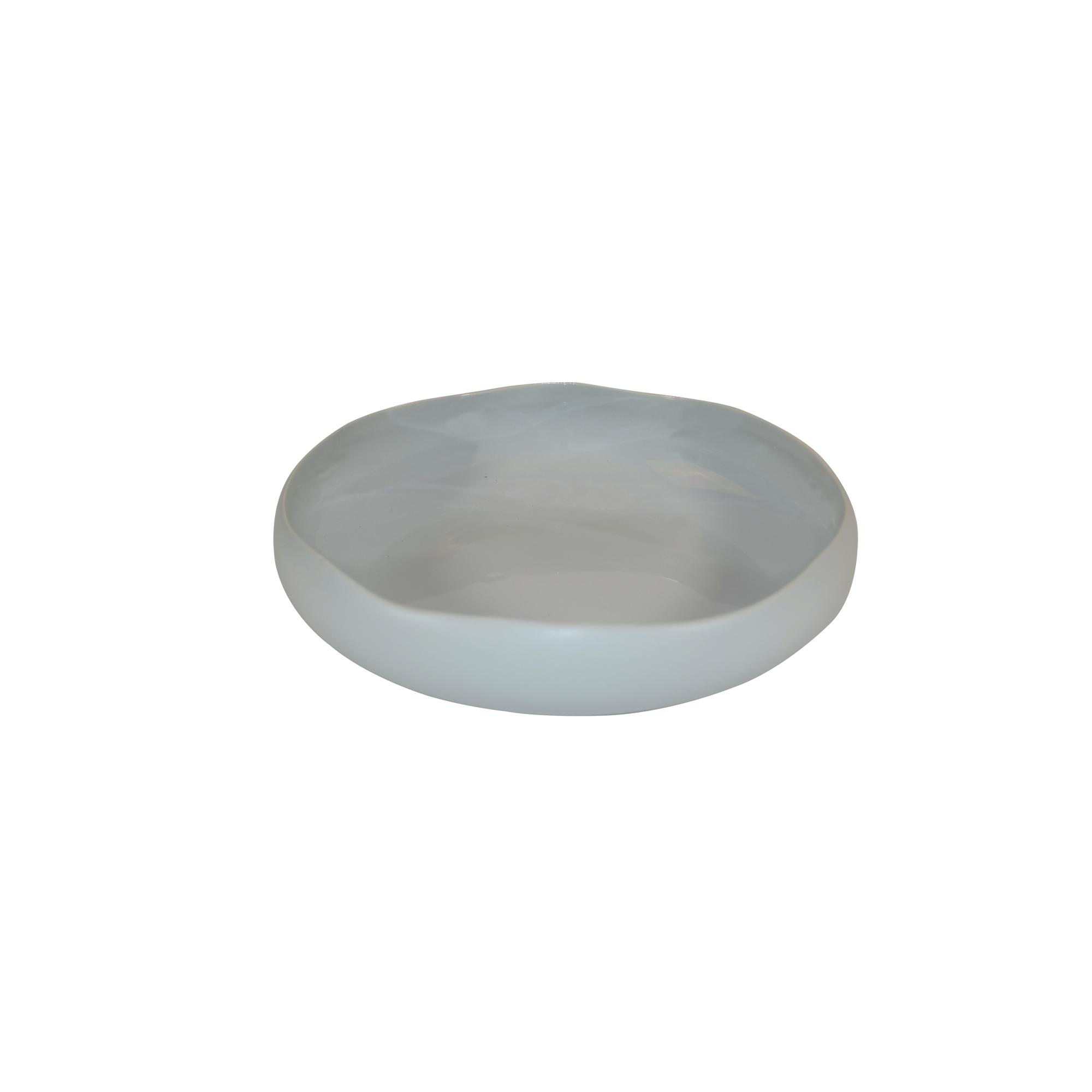 Assiette creuse en grès de table gris 20 cm - Lot de 6