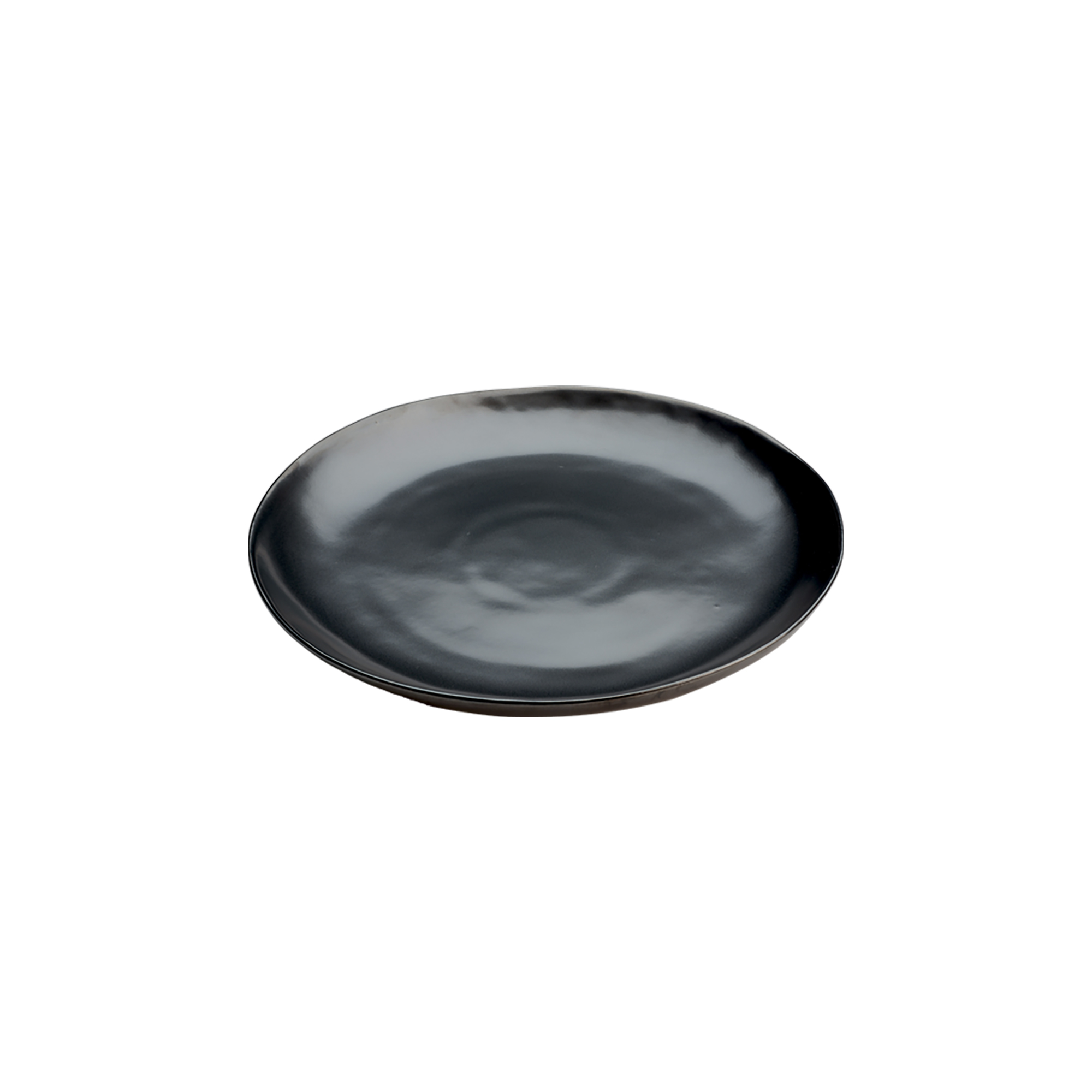 Assiette dessert en grès noir 21 cm - Lot de 6