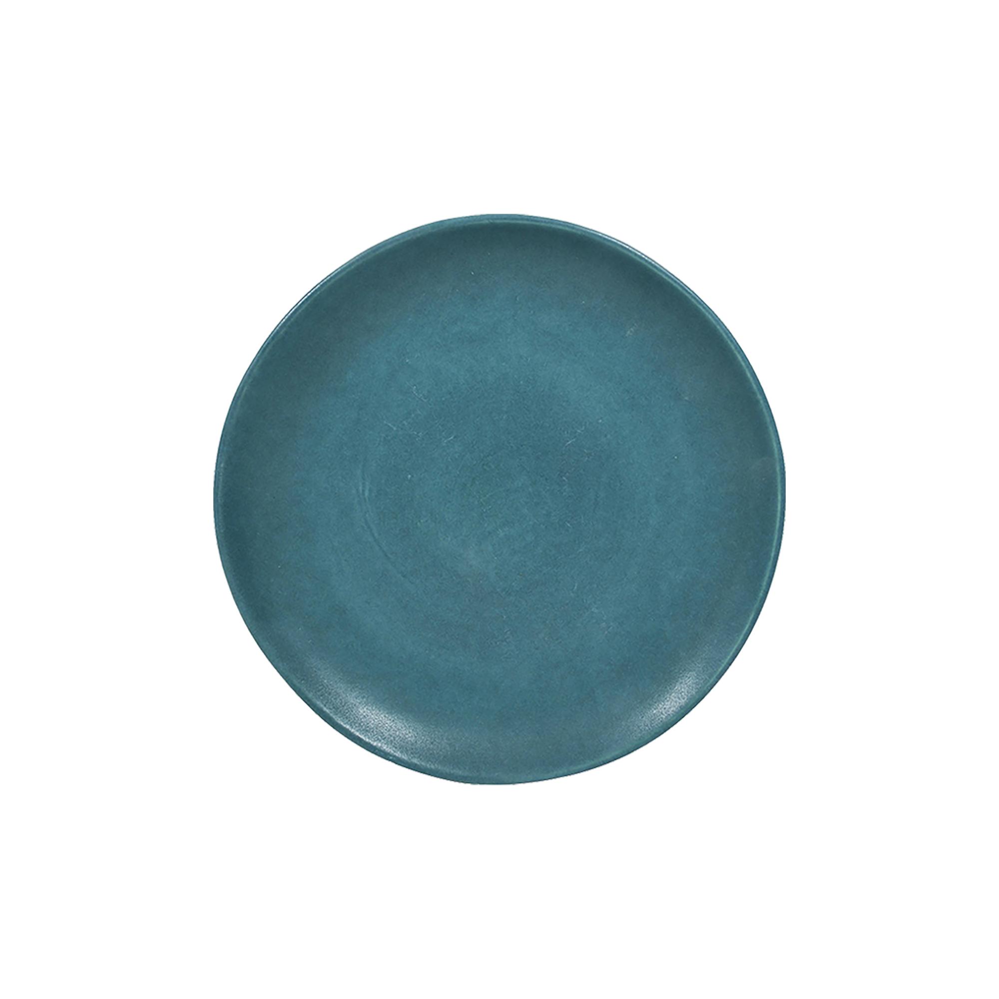 Assiette dessert en grès bleu 21 cm - Lot de 6