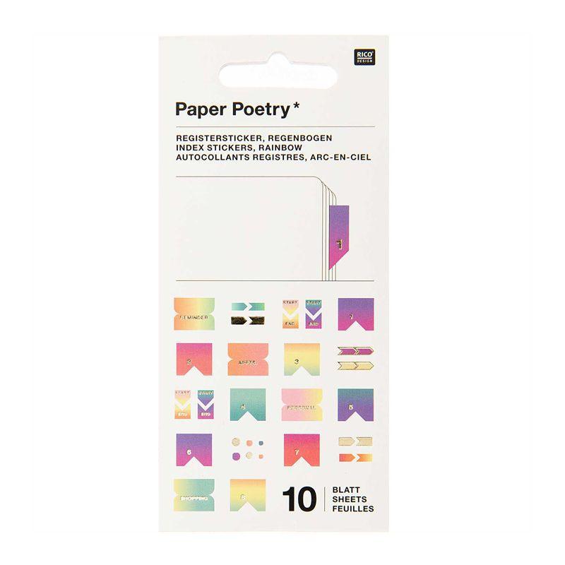 10 feuilles d'autocollants registre pastel