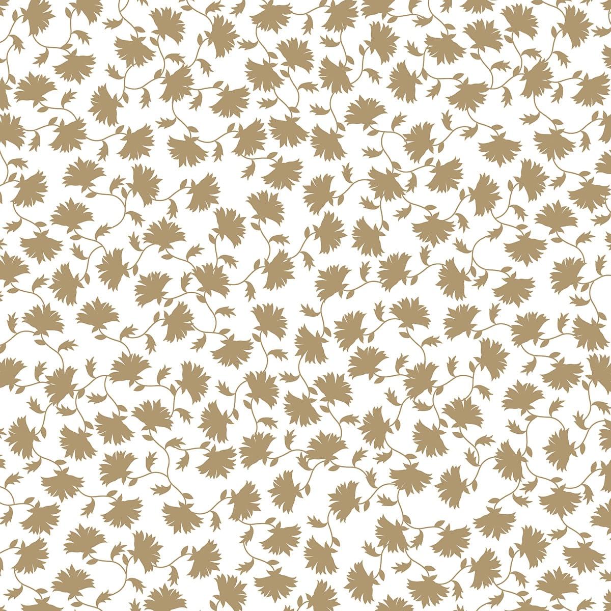Papier calque Japonais fleurs du Japon dorées 90 g/ m² 30x30cm