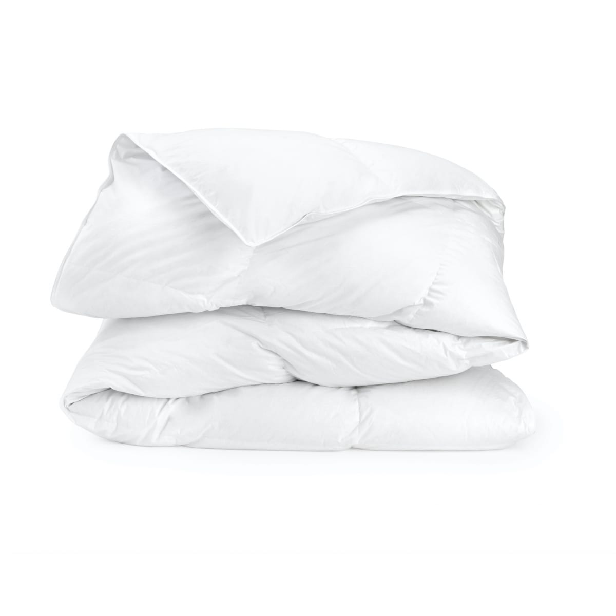 Couette Mixte Polyester & Percale Blanc 220x240cm