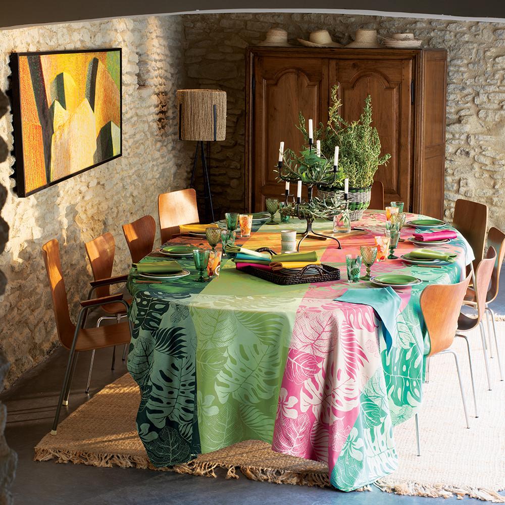 Nappe carrée enduit imperméable pur coton  Multicolore 175x175