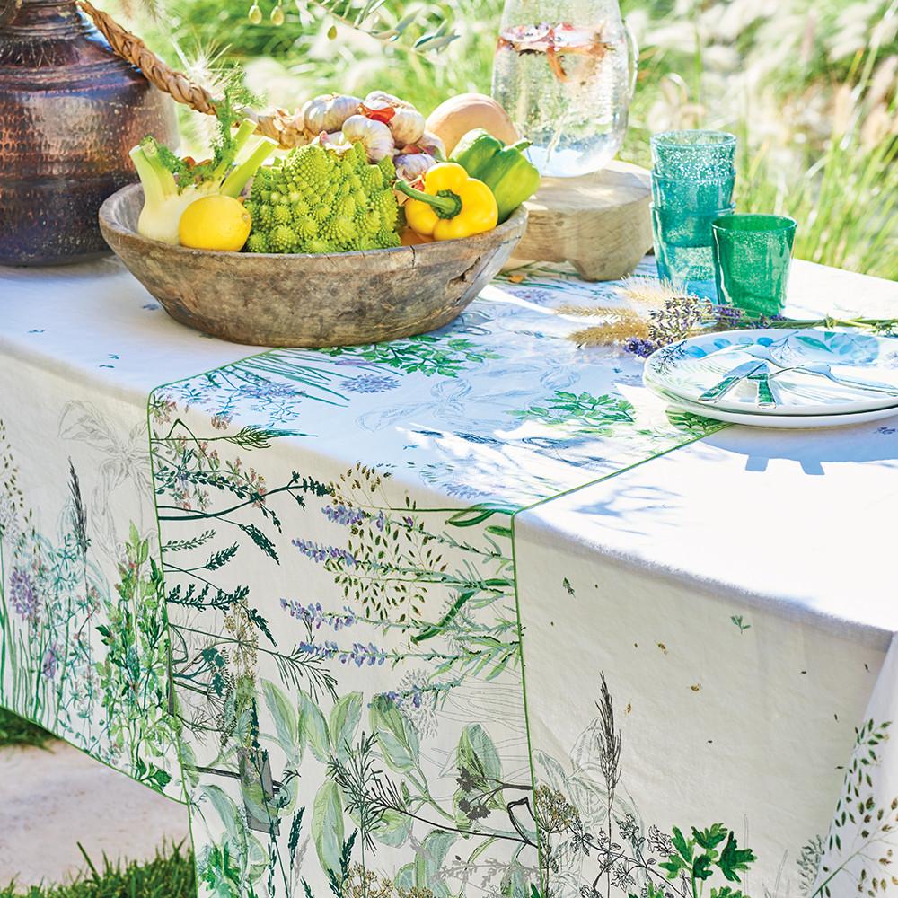 Chemin de table métis lin & coton multicolore 50x150
