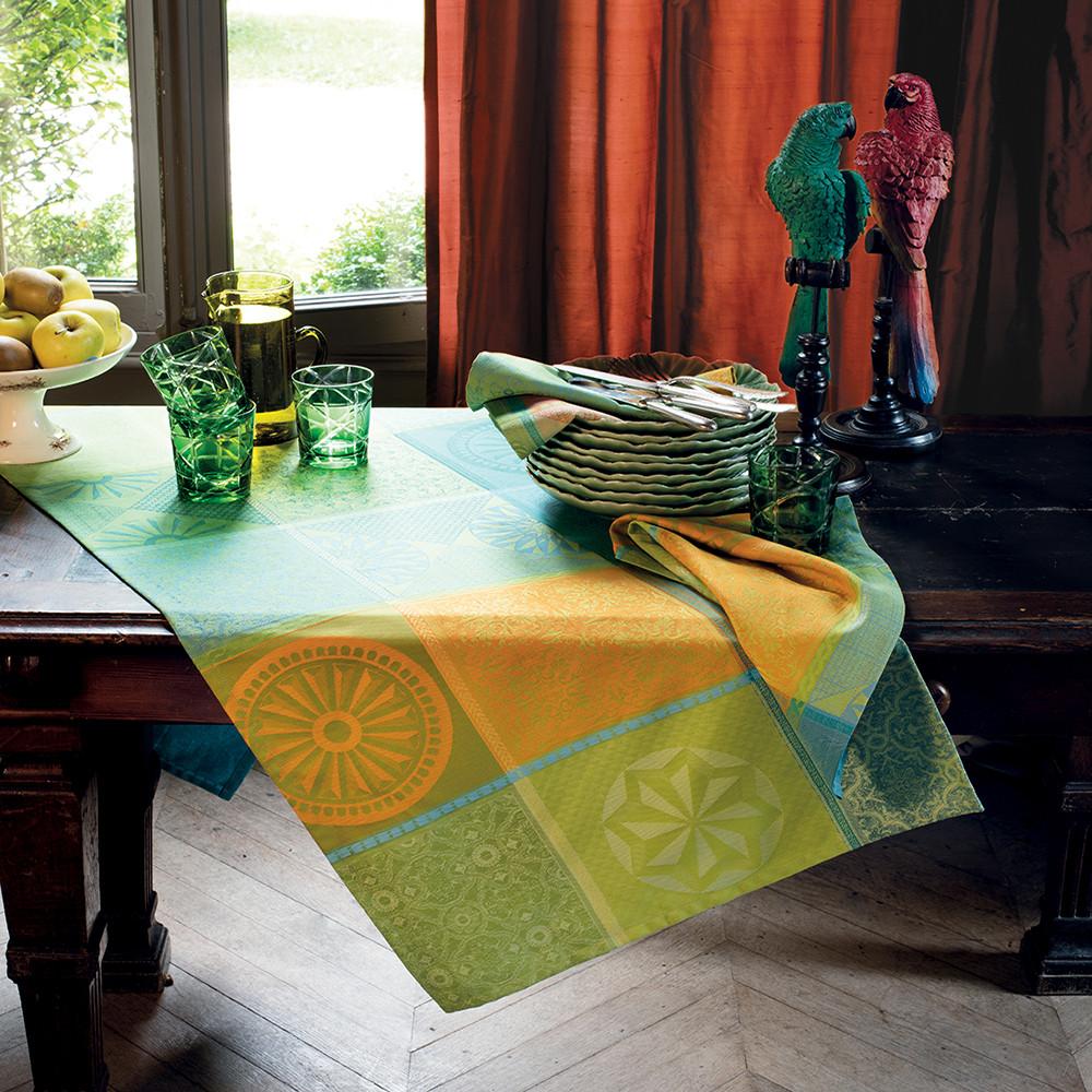 Chemin de table pur coton multicolore 155X55