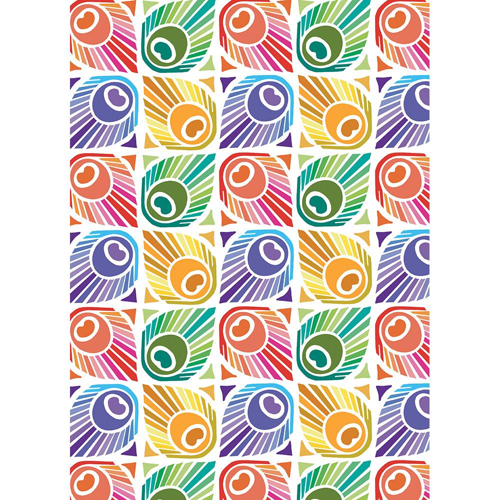 Torchon  pur coton multicolore 50x70