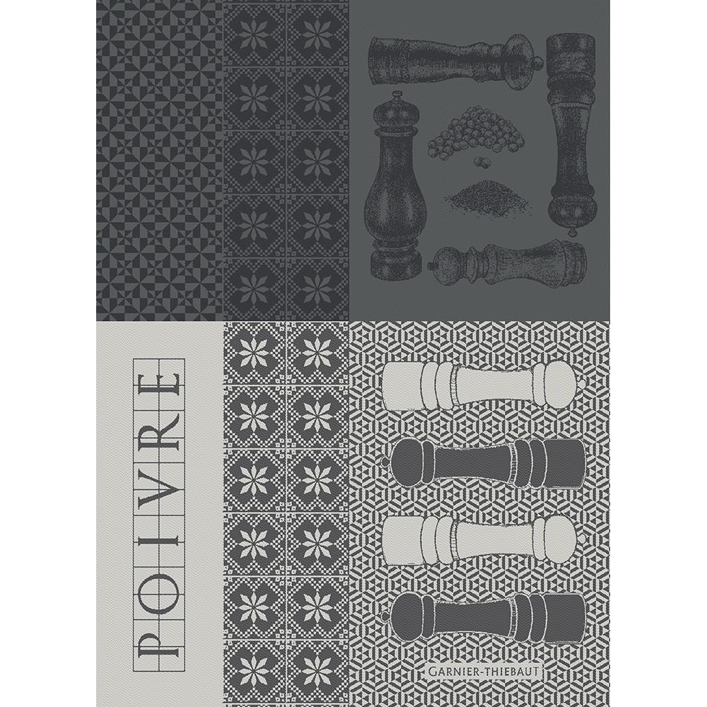 Torchon  pur coton gris 56x77