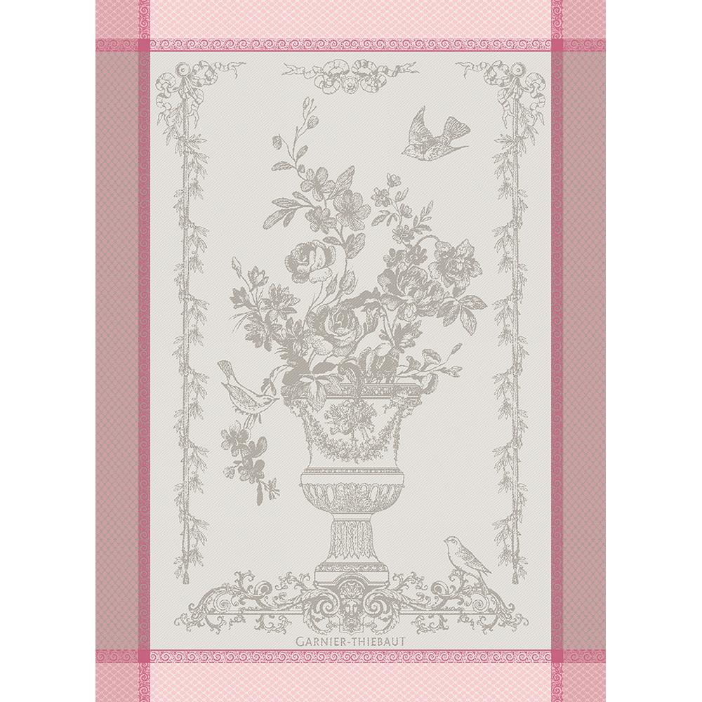 Torchon  pur coton rose 56x77