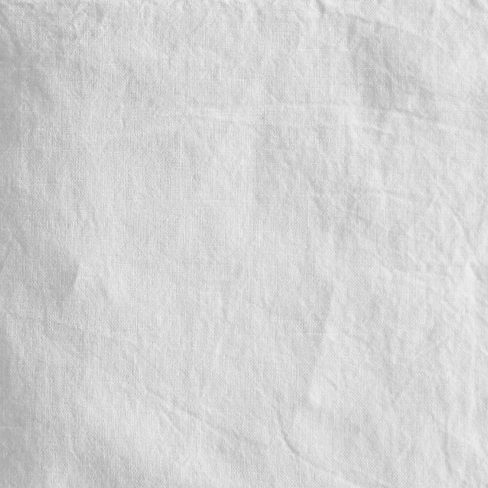 Serviette métis lin & coton blanc 45x45