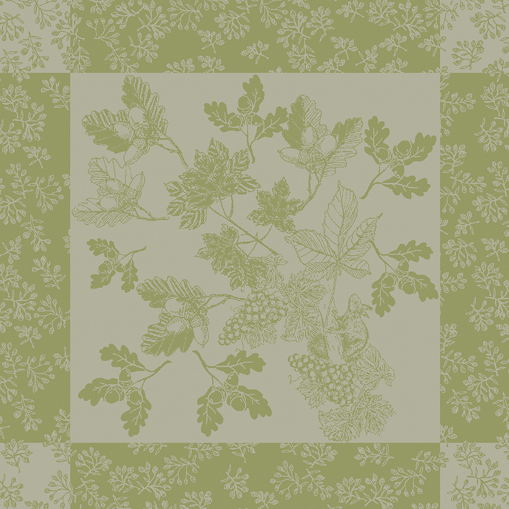 Serviette pur coton vert 55x55