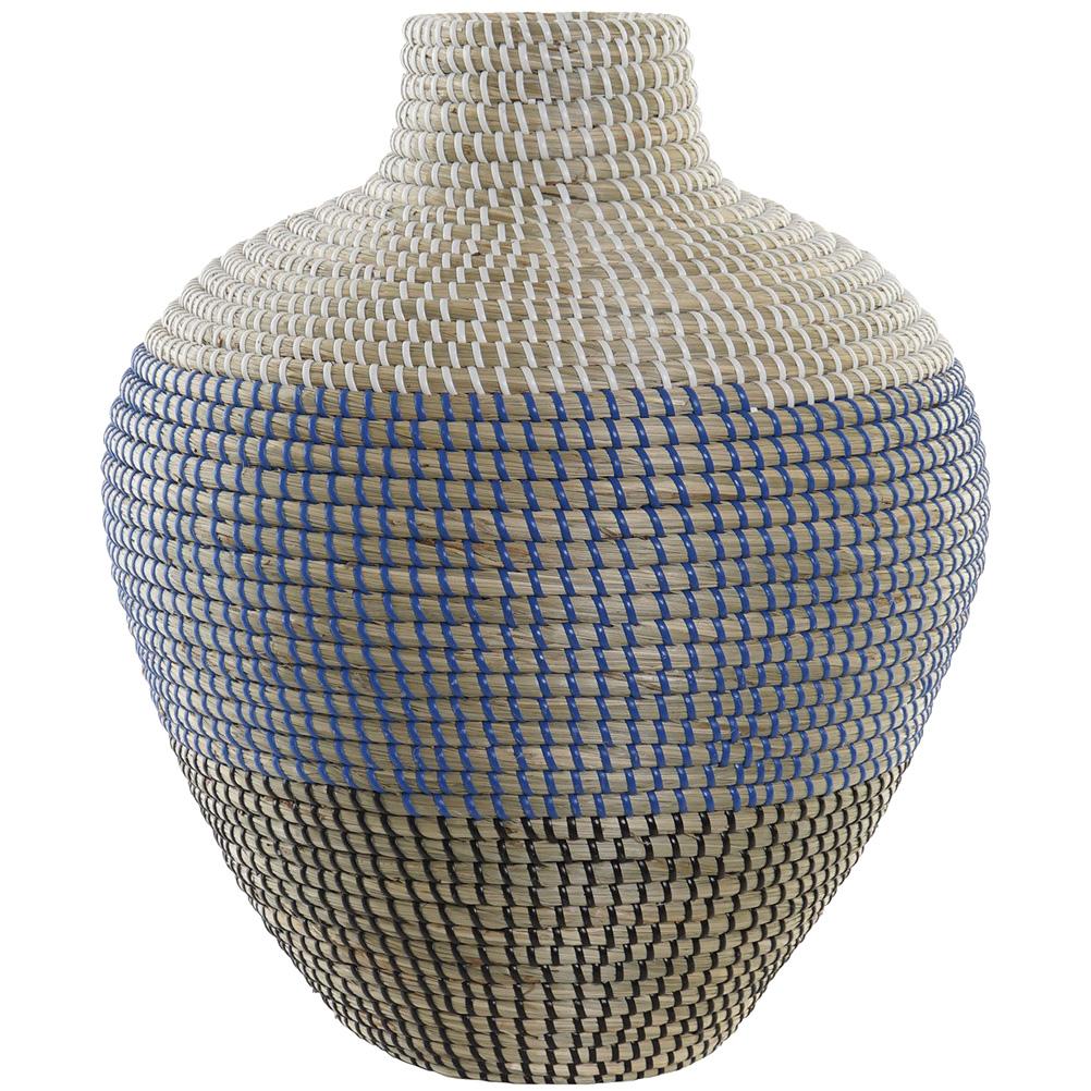 Grand vase en jonc de mer H45cm