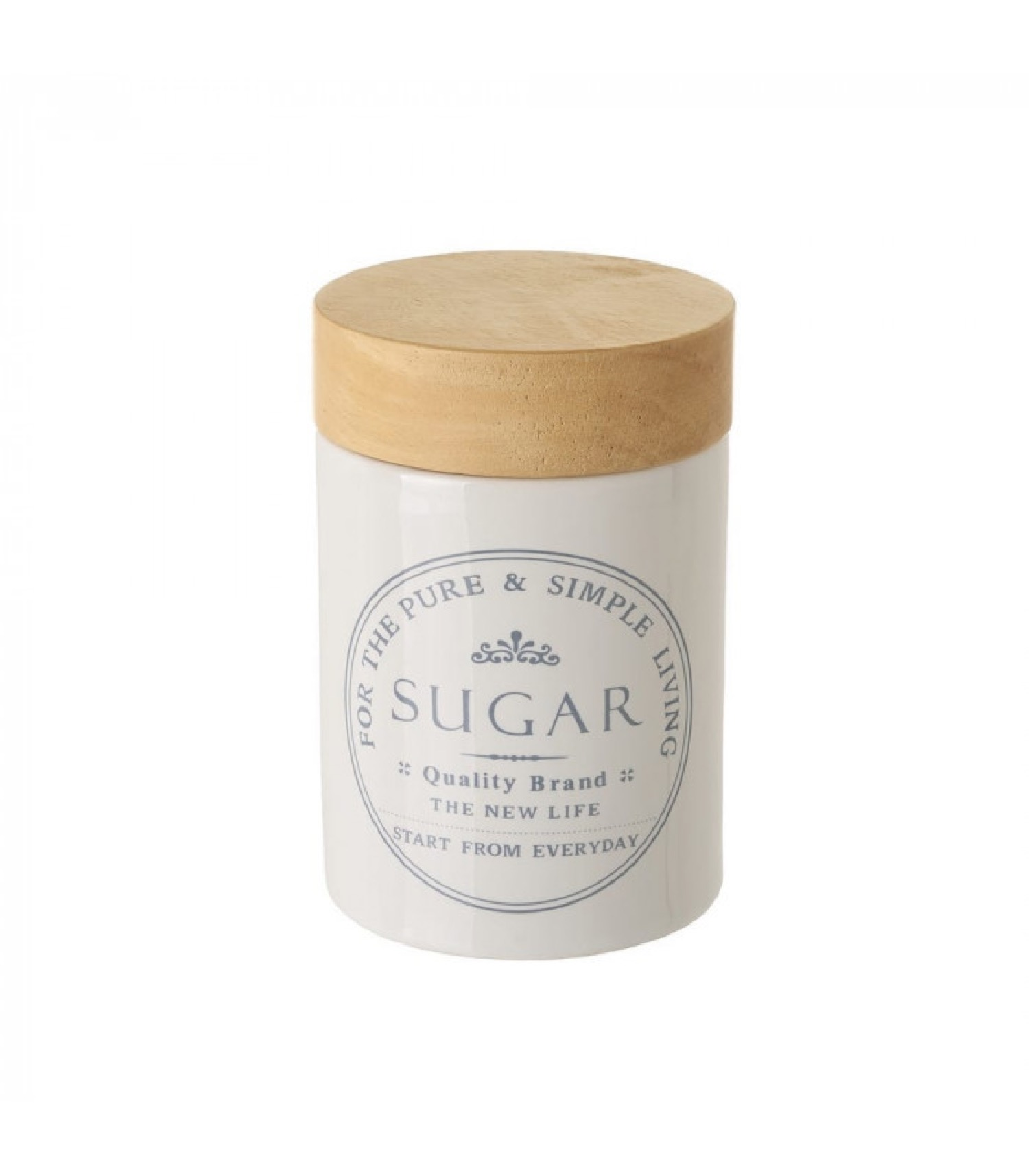Pot à sucre en céramique blanche