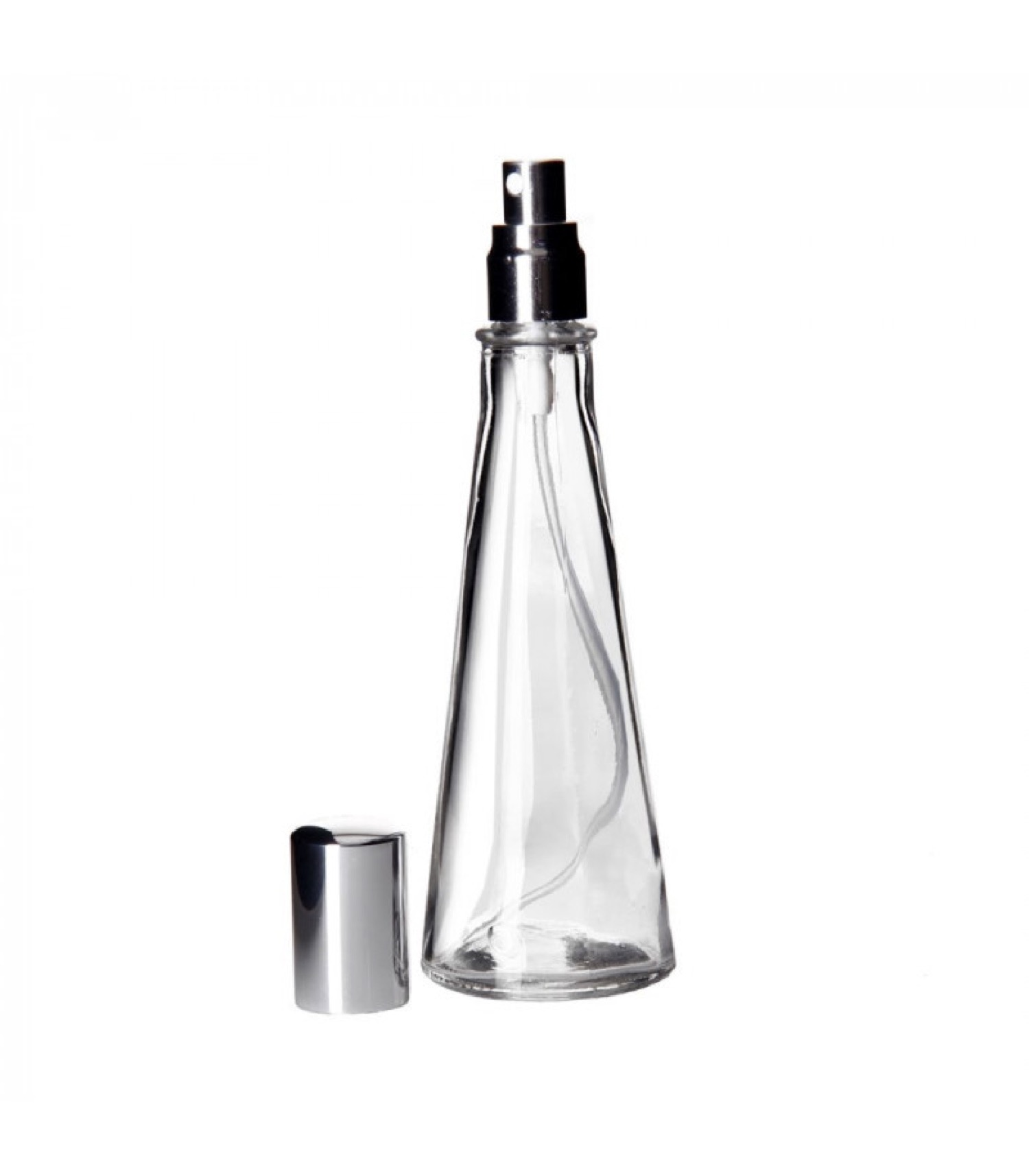 Bouteille spray huile ou vinaigre en verre transparent 180ml
