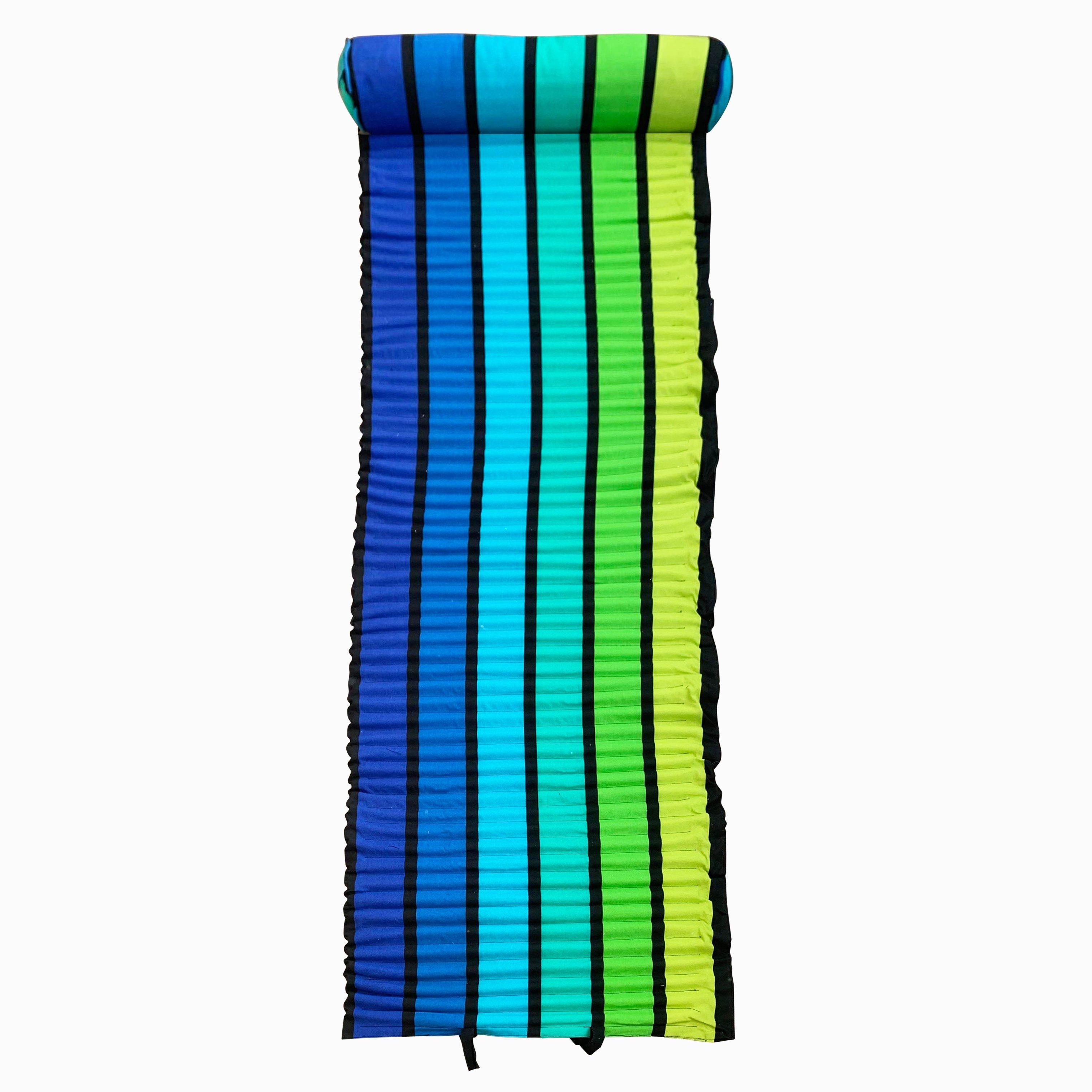 Matelas de plage pour bain de soleil happy men bleu  60 x 180