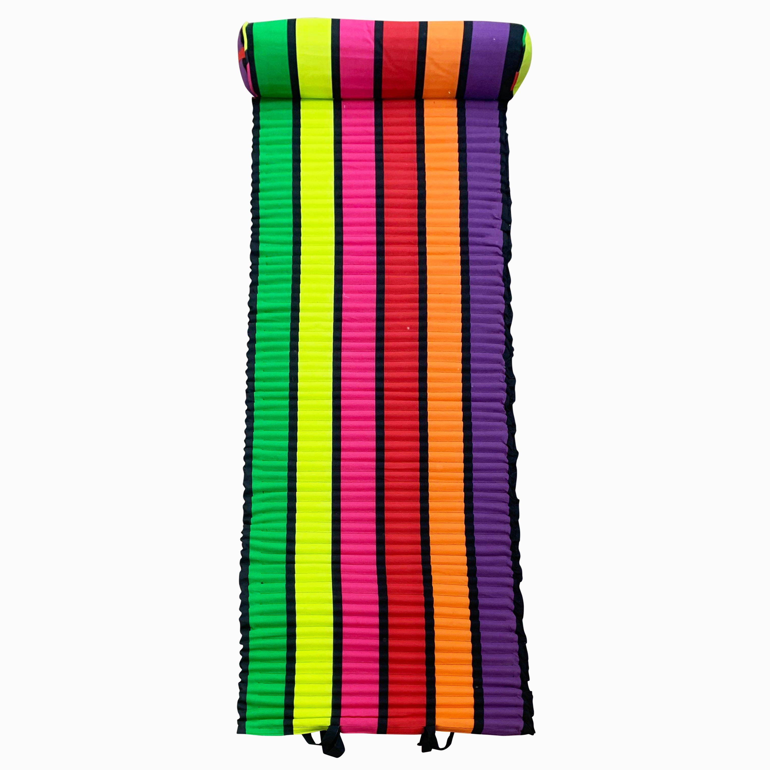 Matelas de plage pour bain de soleil happy fresh  multicolore 60 x 180