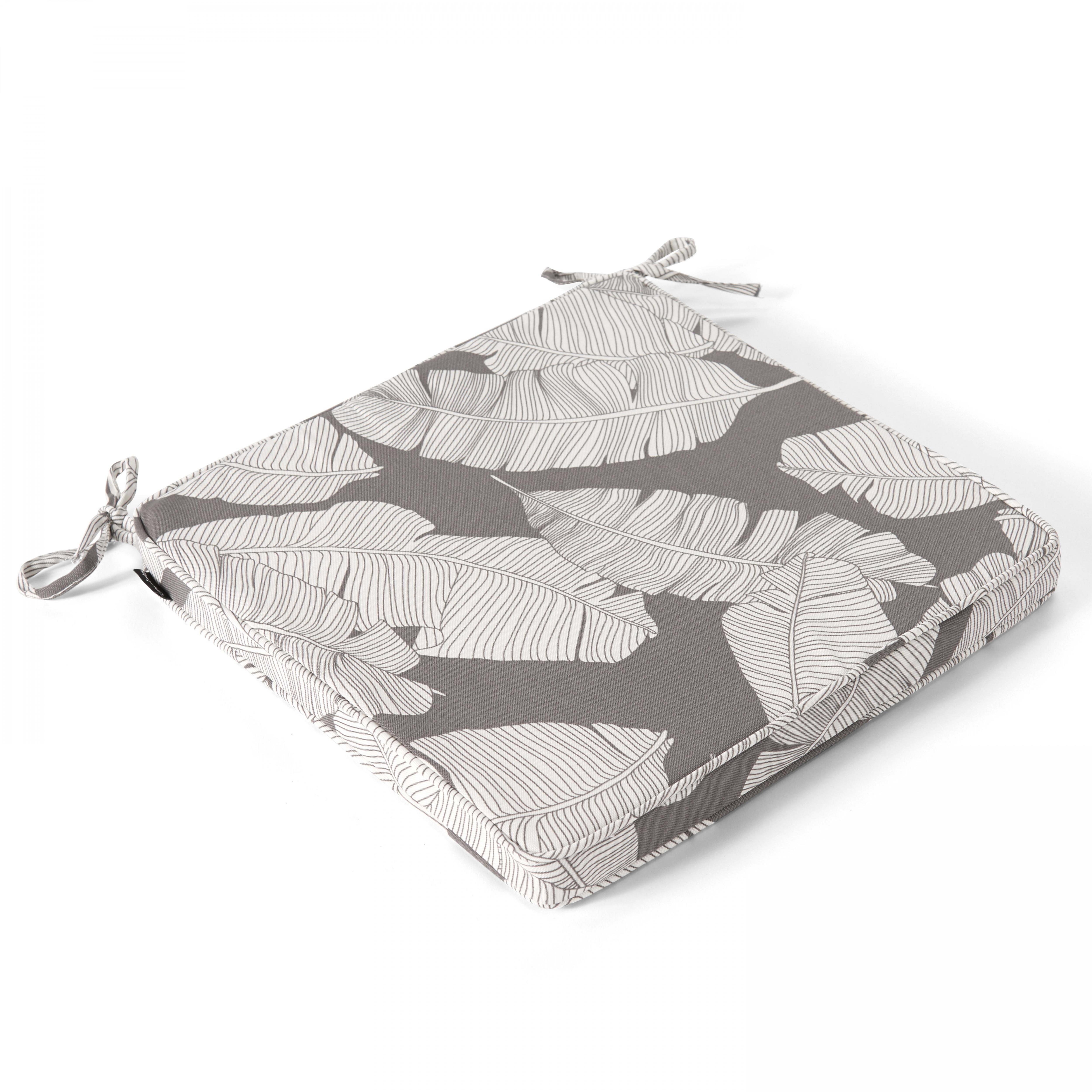 Coussin d'assise en polyester gris
