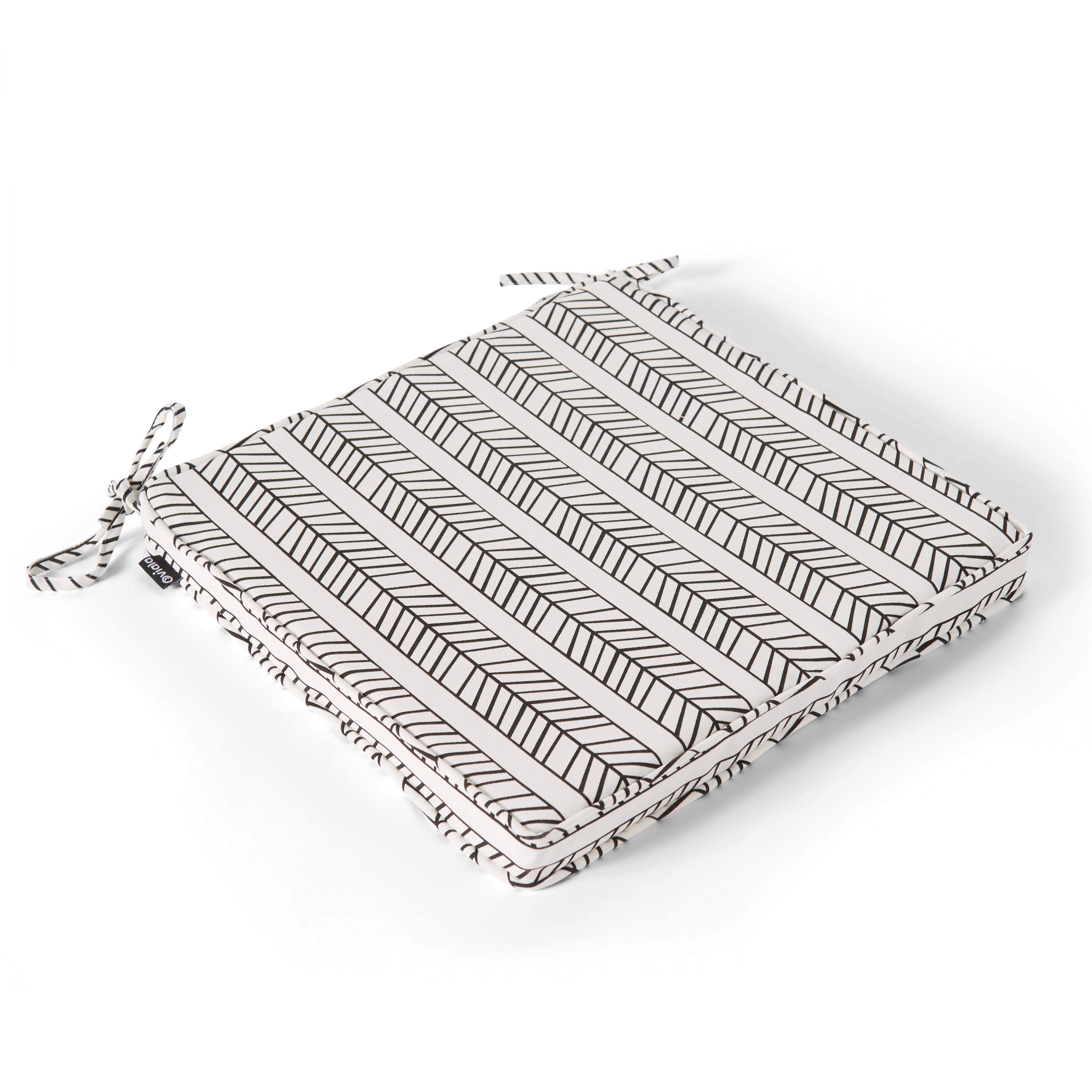 Coussin d'assise en polyester blanc