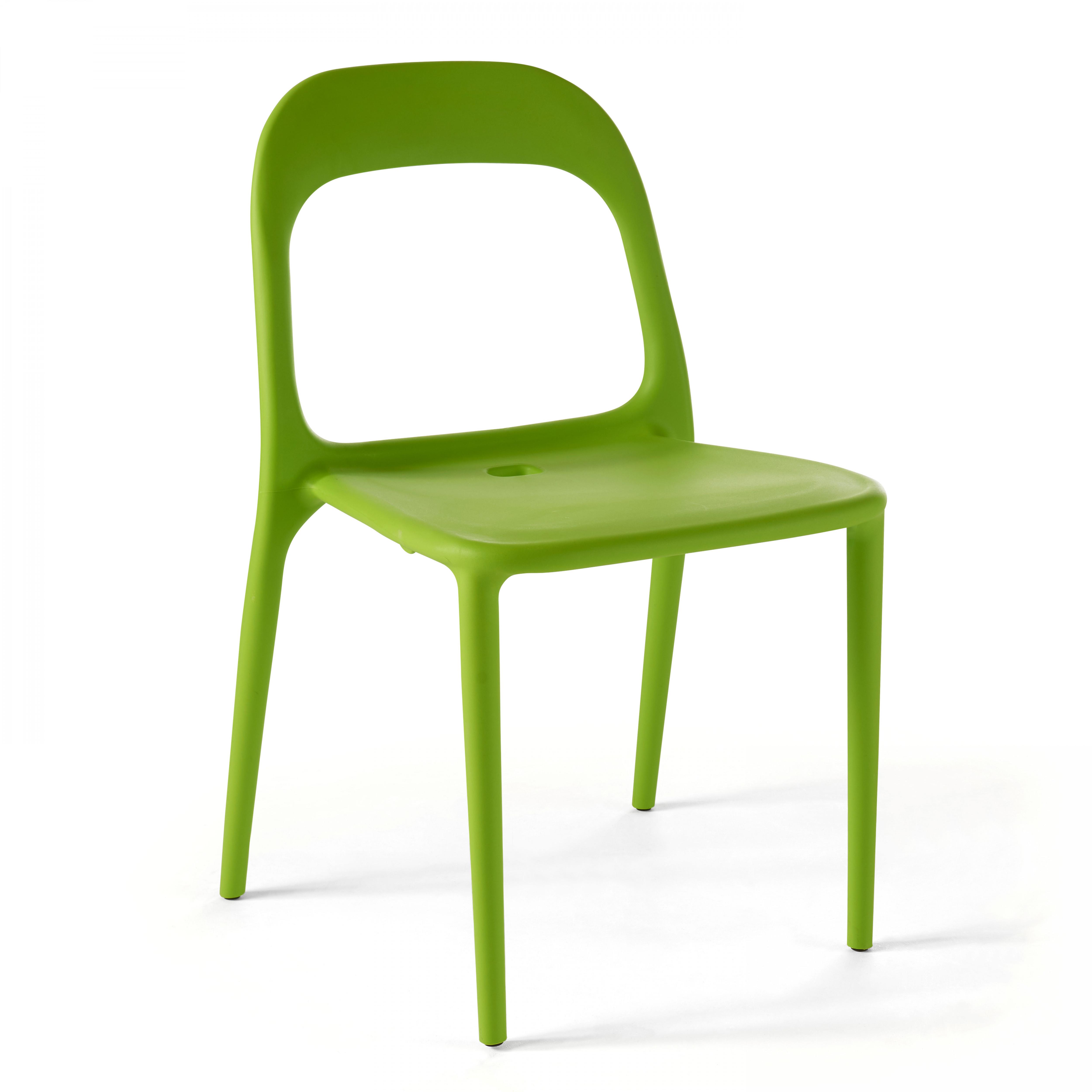 Chaise de jardin 1 place en plastique vert