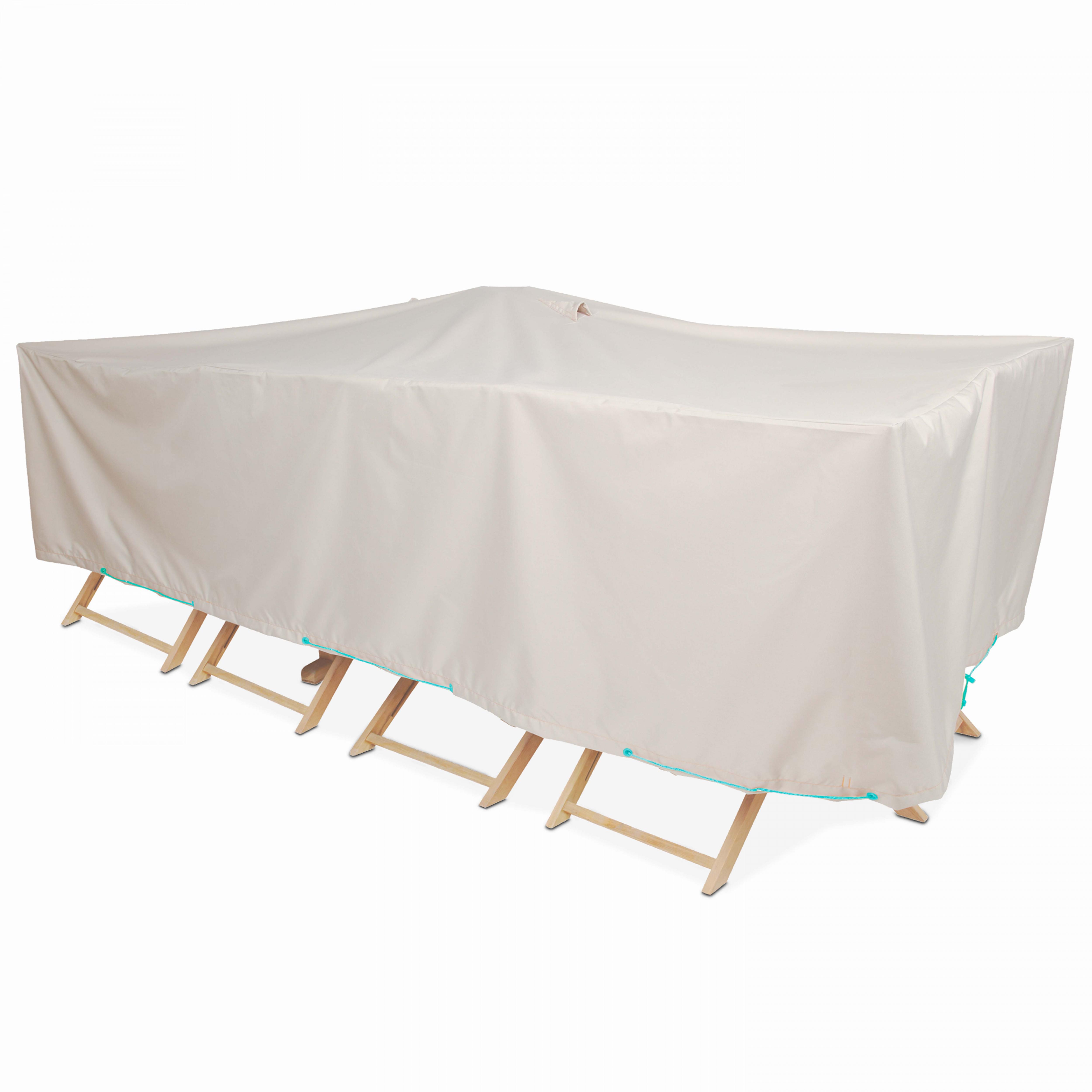 Housse salon de jardin 12 places en polyester taupe