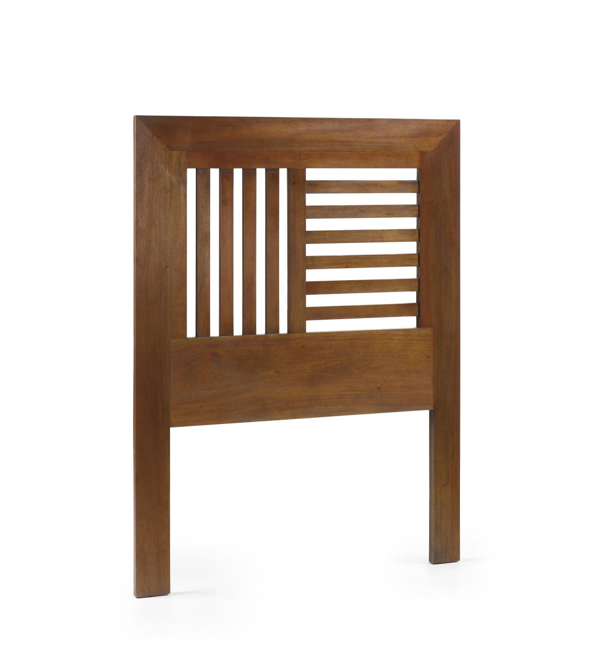 Tête de lit en bois marron