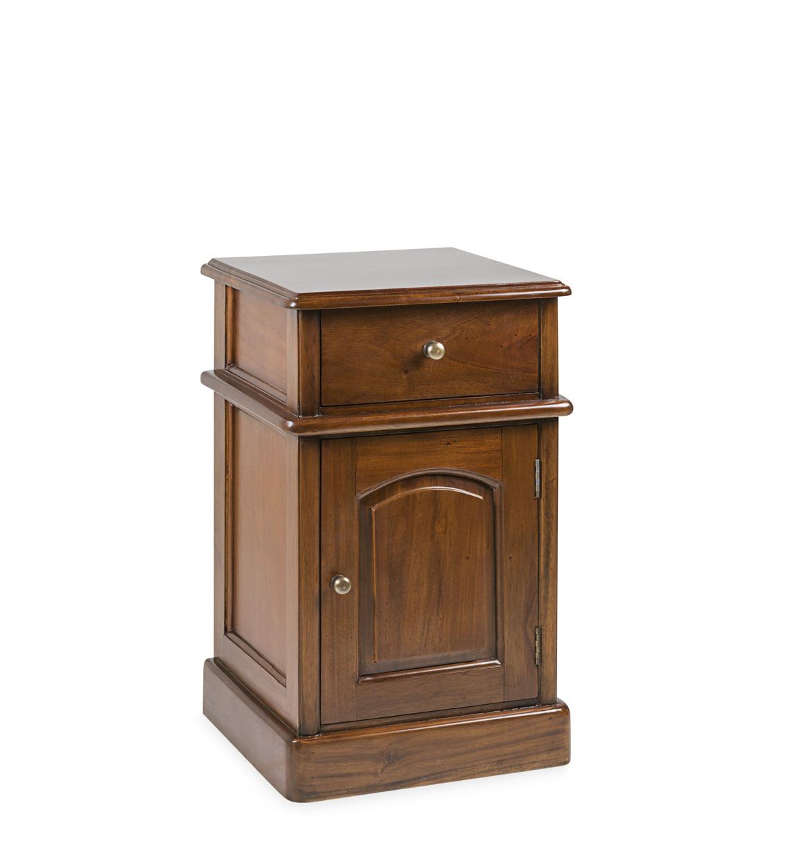 Table de chevet en bois marron
