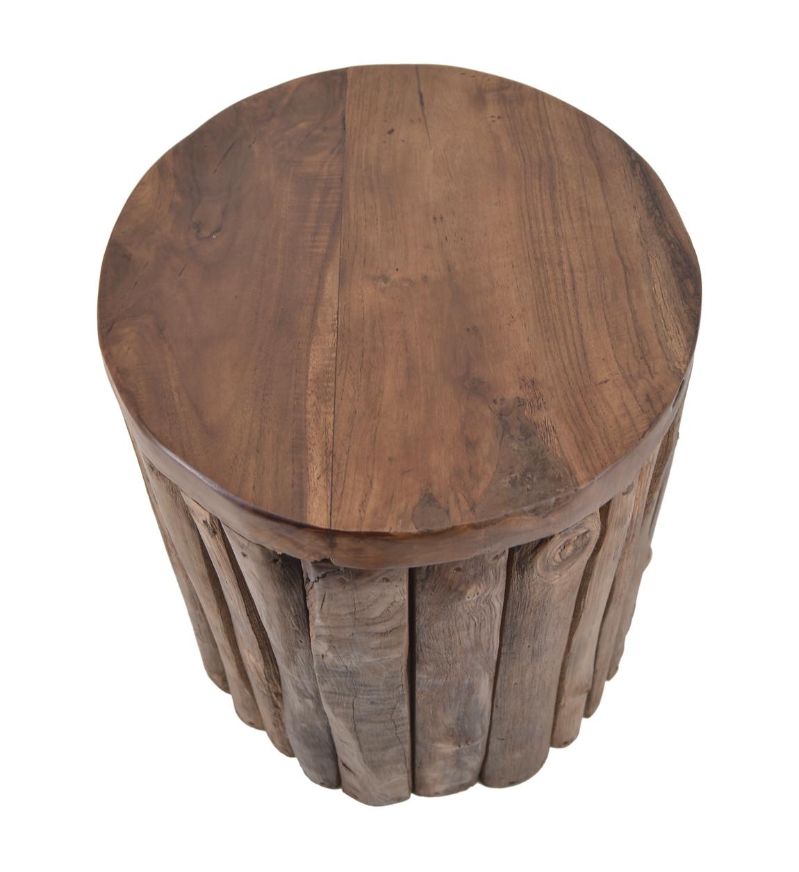 Tabouret en bois marron