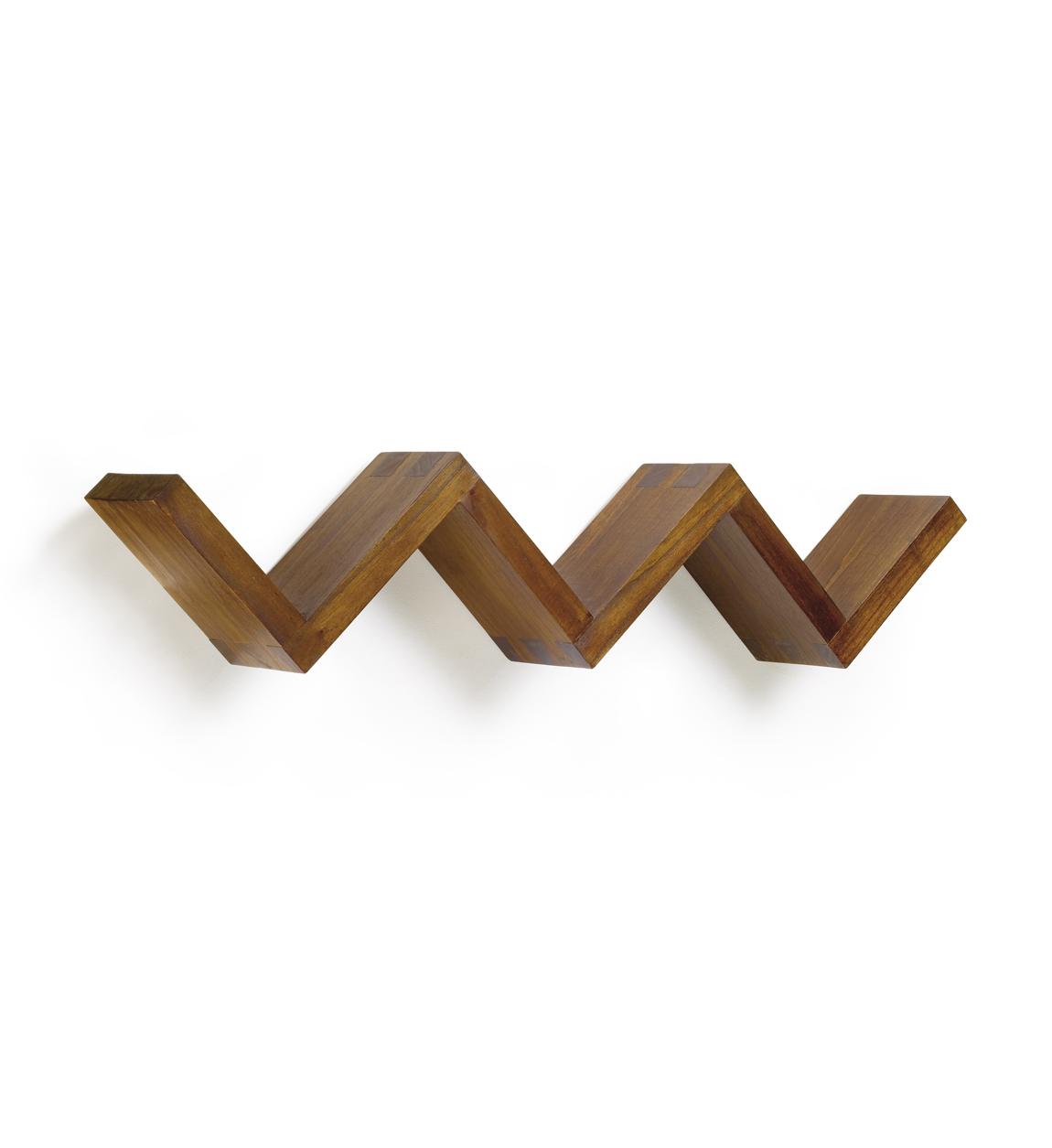 Étagère escalier en bois marron