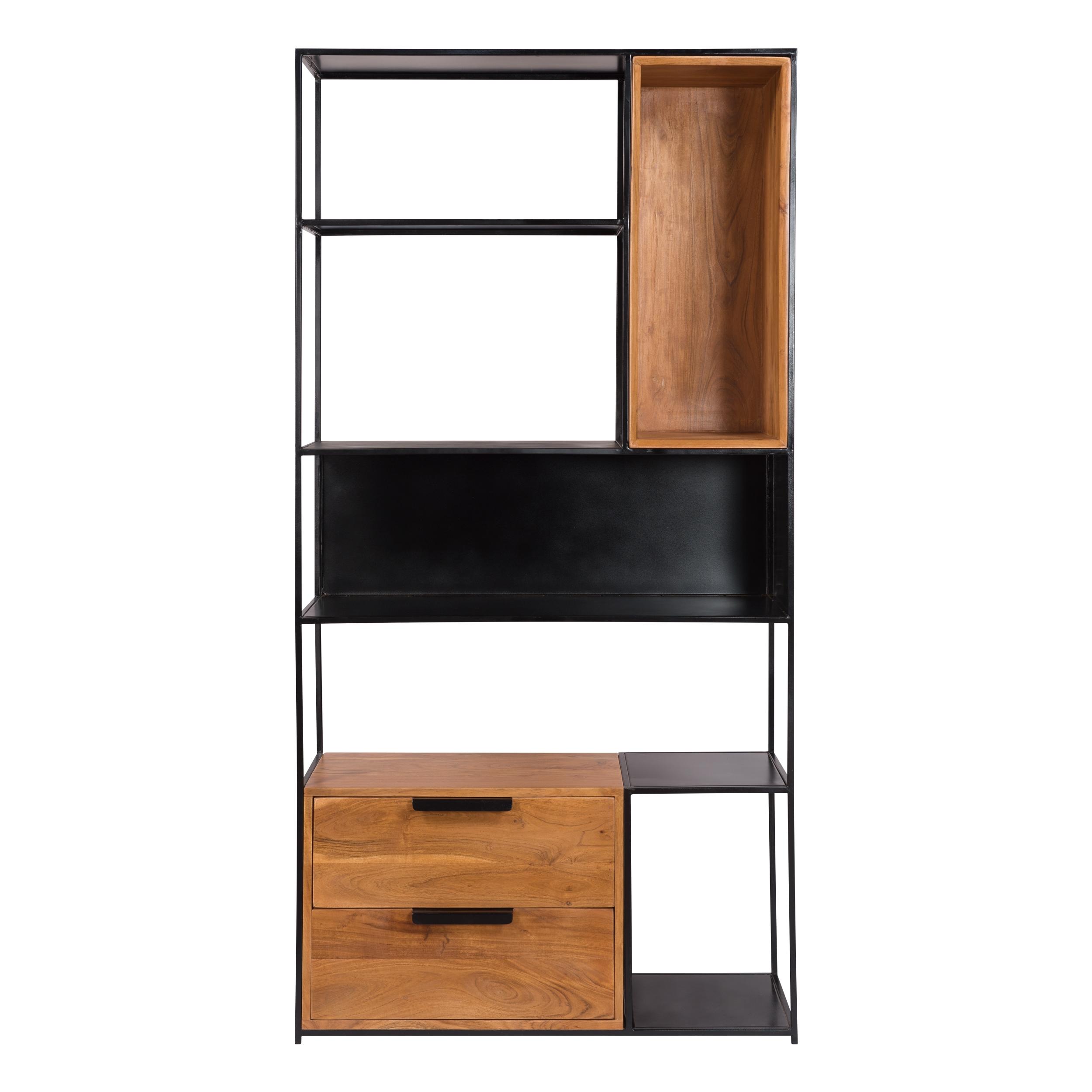 Etagère 5 niveaux en bois d'acacia et métal