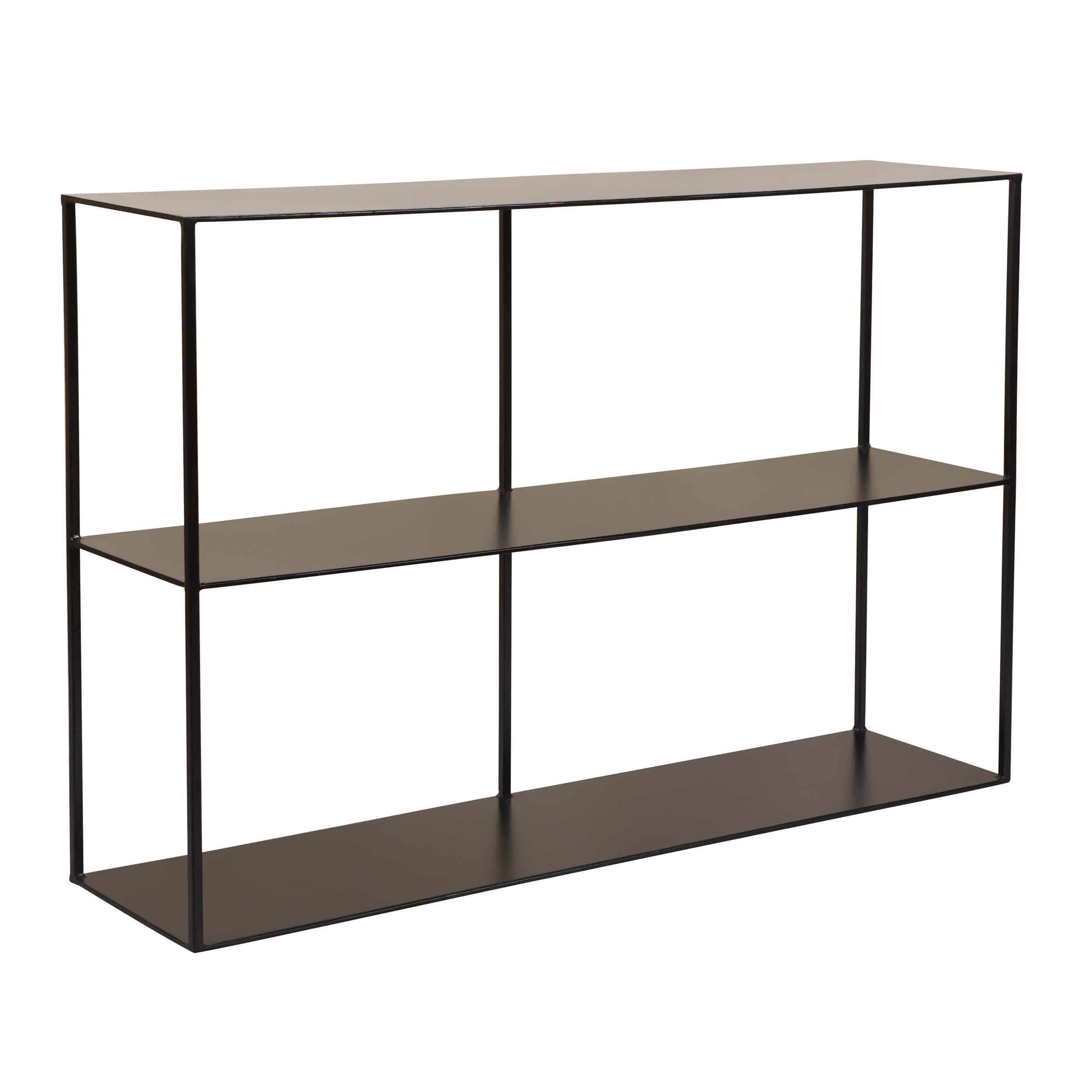 Console 2 niveaux en métal noir