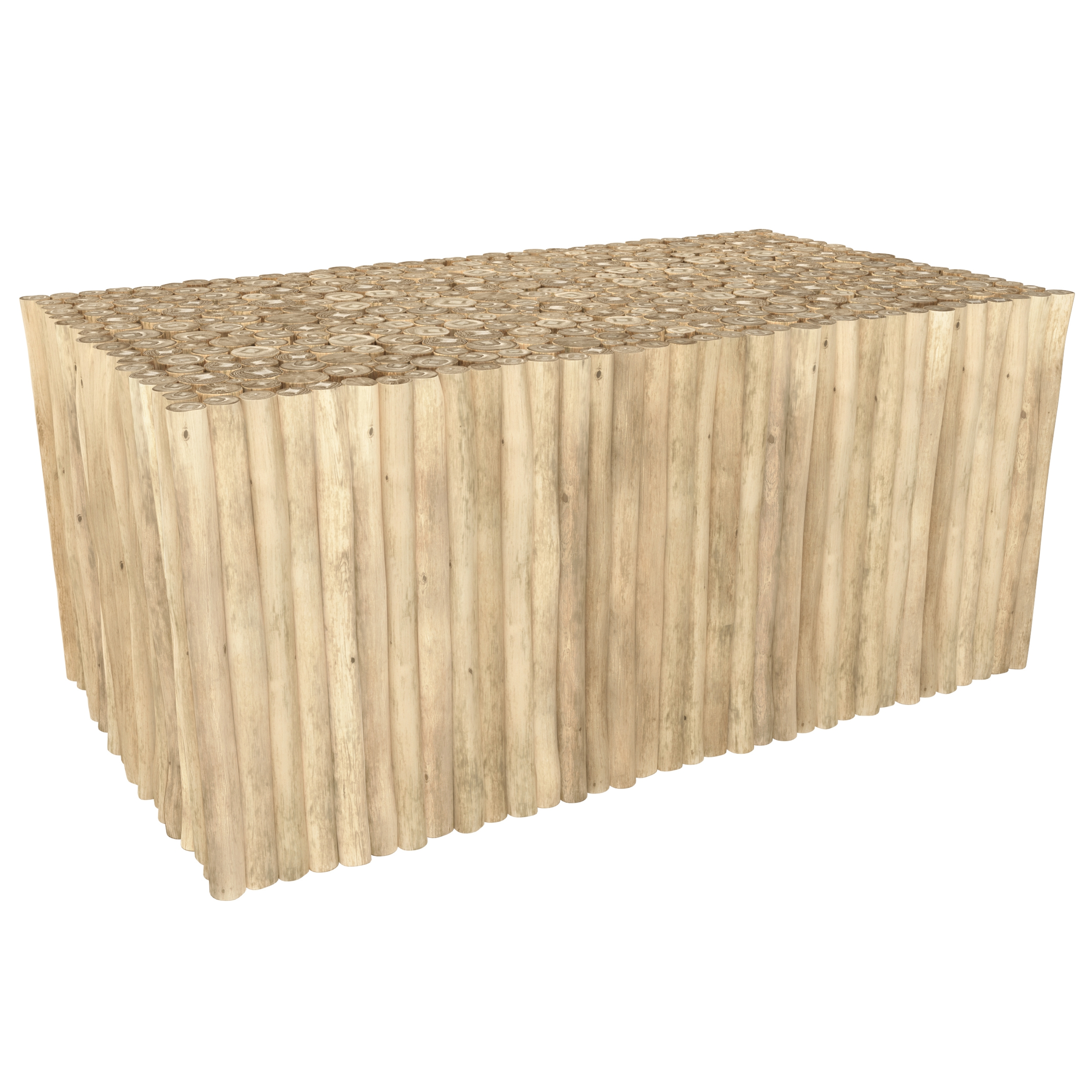 Table basse de jardin rectangulaire 90x50cm en teck