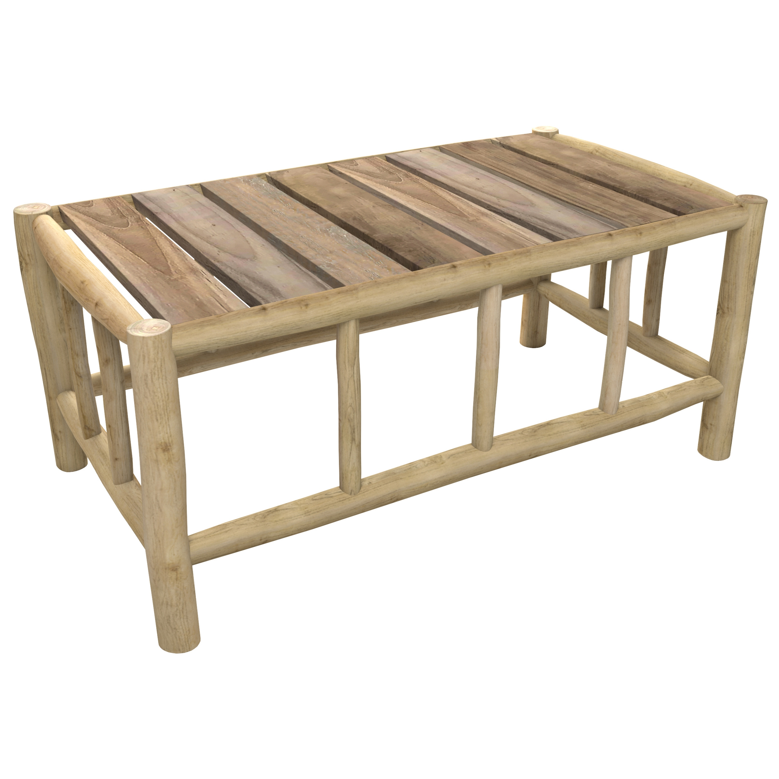 Table basse de jardin rectangulaire en teck