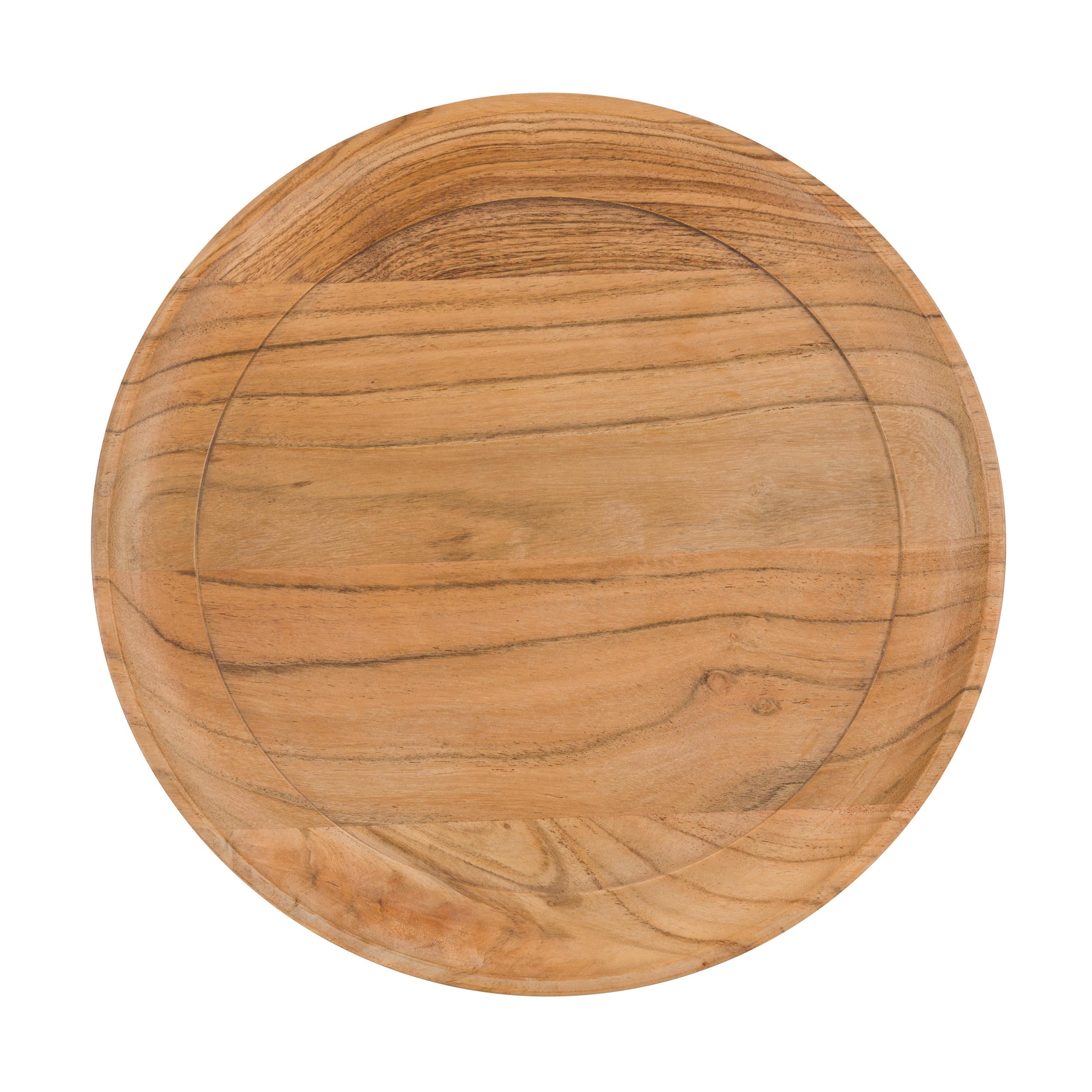 Table d'appoint ronde en bois et métal (lot de 2)