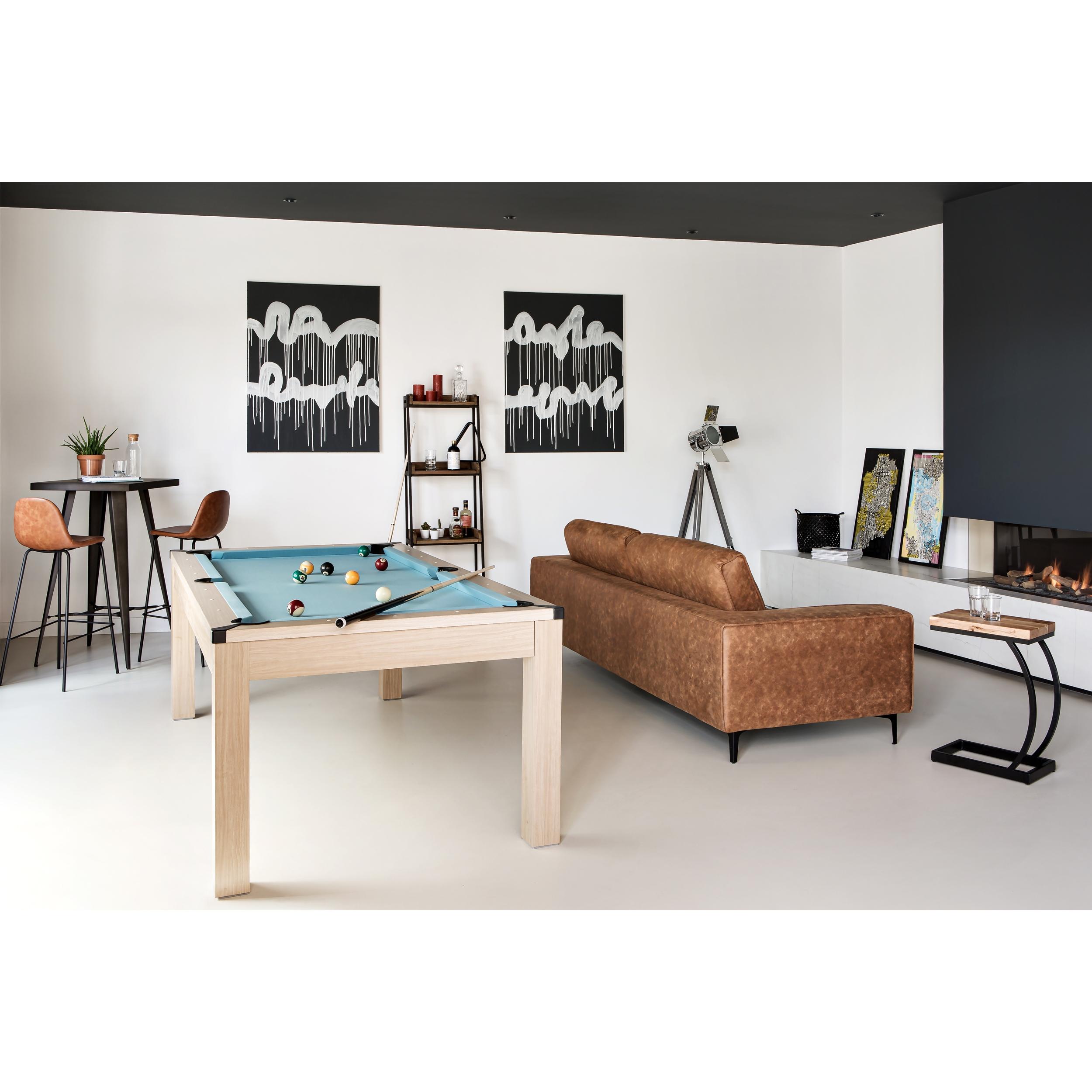 Table d'appoint en acacia et métal